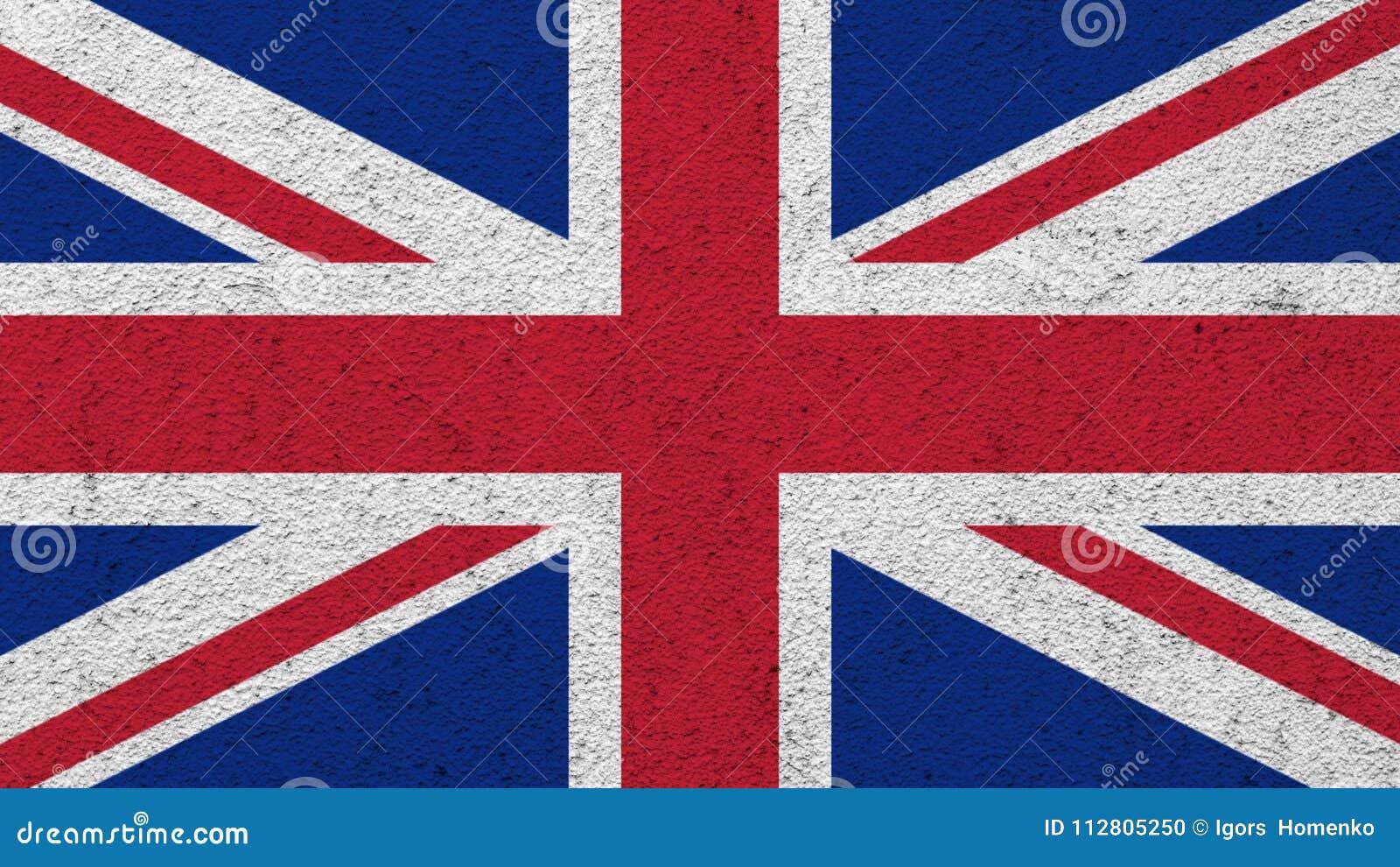 Bandeira do Reino Unido pintado na parede