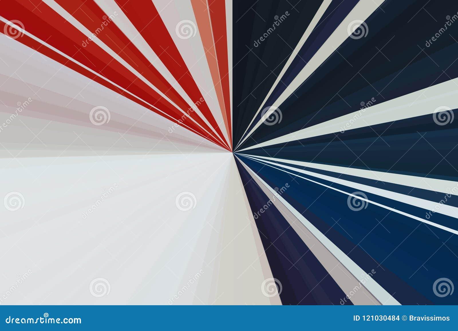Bandeira dos EUA O sumário irradia o fundo Teste padrão do feixe das listras Cores modernas da tendência da ilustração à moda