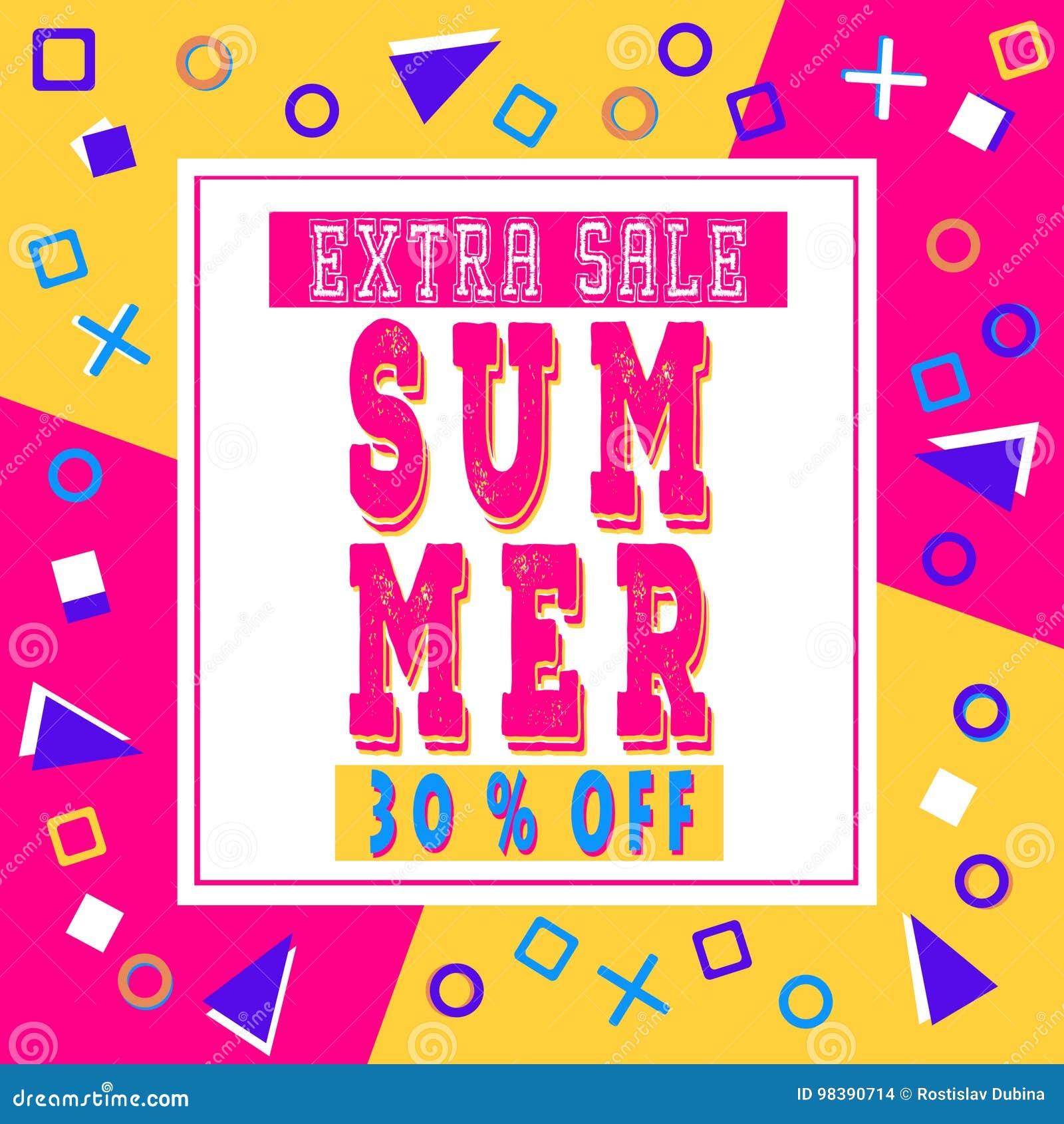 Bandeira extra da venda do verão para a brochura, inseto, cartaz, anunciando o logotipo, folheto para o projeto do molde da loja