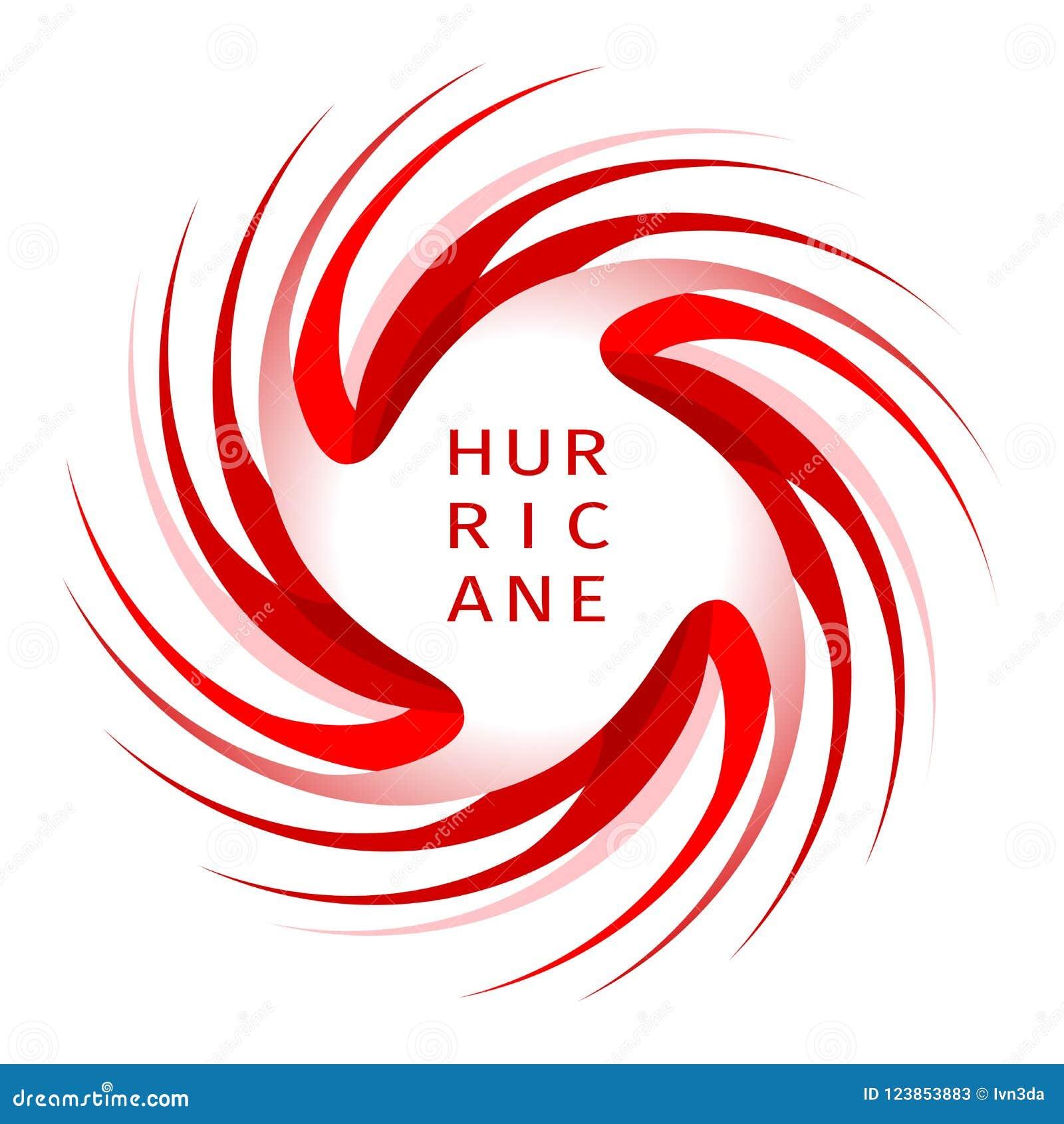 Bandeira gráfica do aviso do furacão