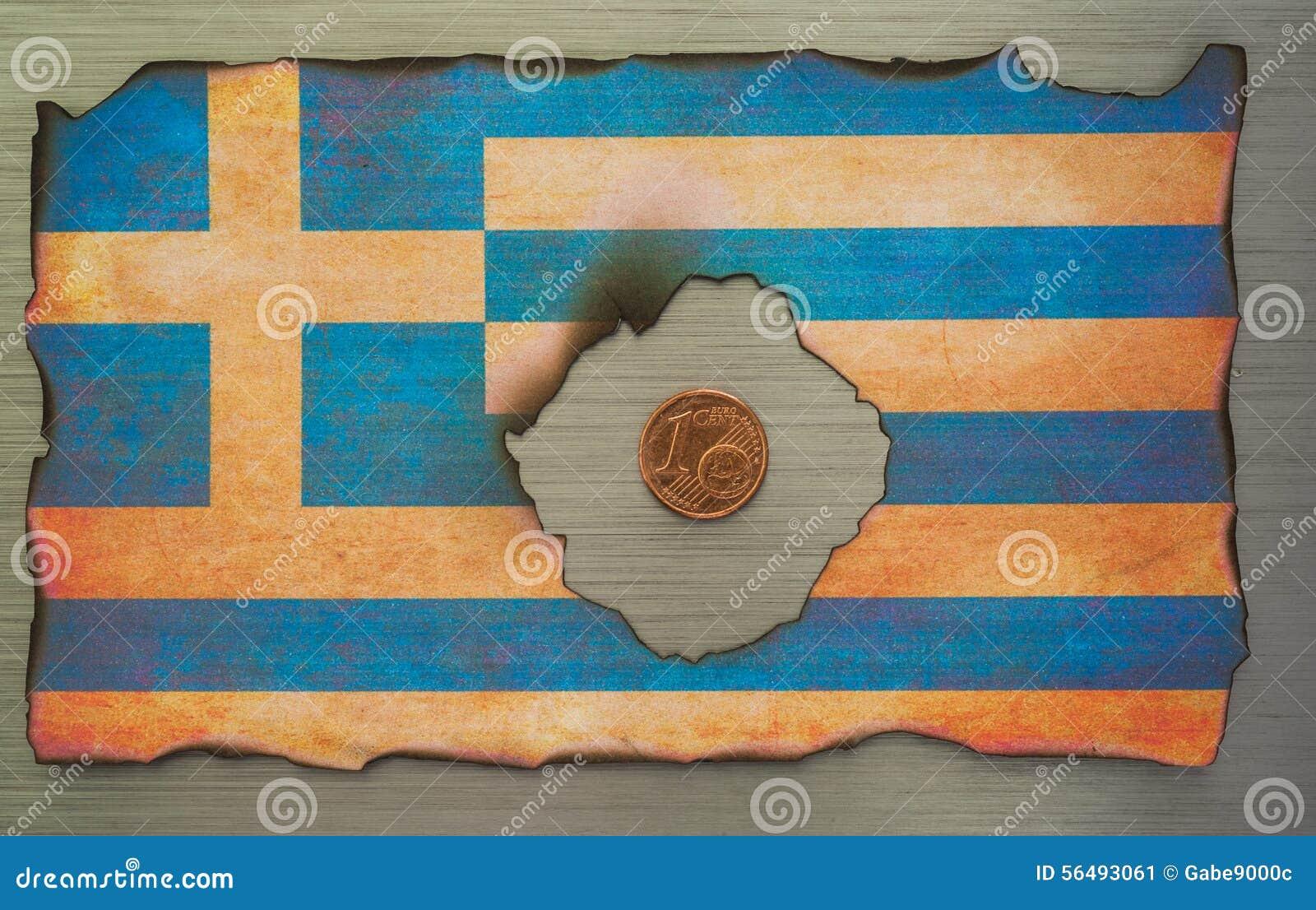 Bandeira grega sumário escovado do metal