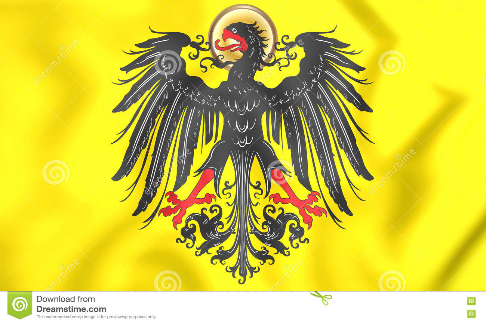 Bandeira imperial de Roman Emperor santamente antes de 1433