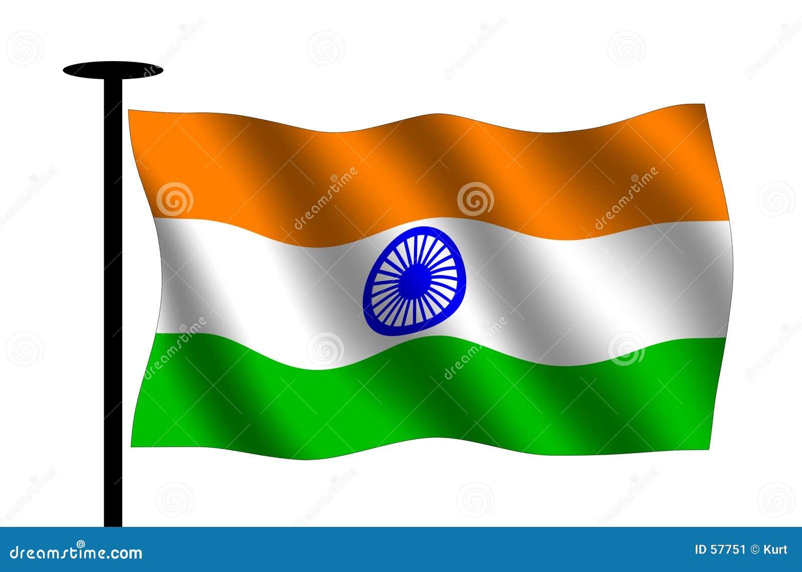 Bandeira indiana de ondulação