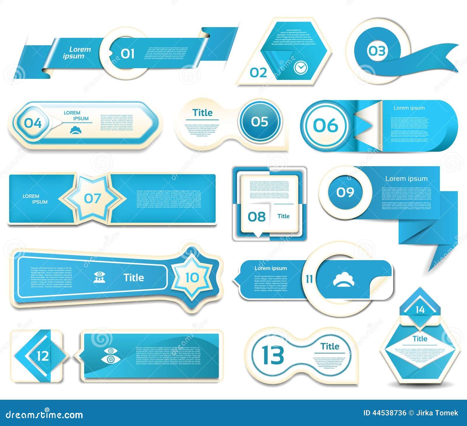 Bandeira moderna das opções do infographics Ilustração do vetor pode ser usado para a disposição dos trabalhos, diagrama, opções