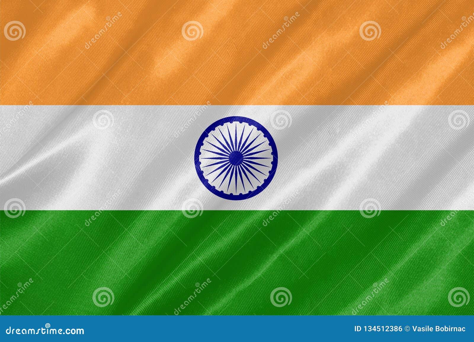 A bandeira nacional da Índia