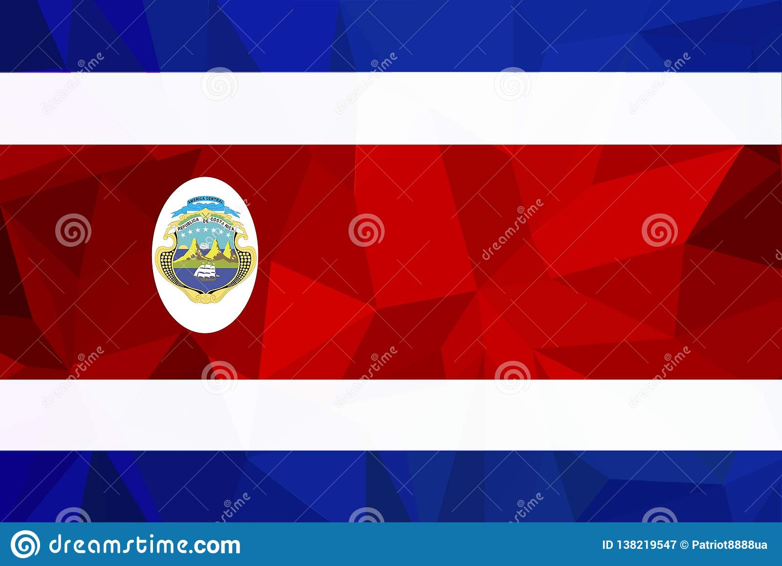 Bandeira oficial nacional de Costa Rican Símbolo patriótico, bandeira, elemento, fundo Dimensões exatas Bandeira de Costa Rica no