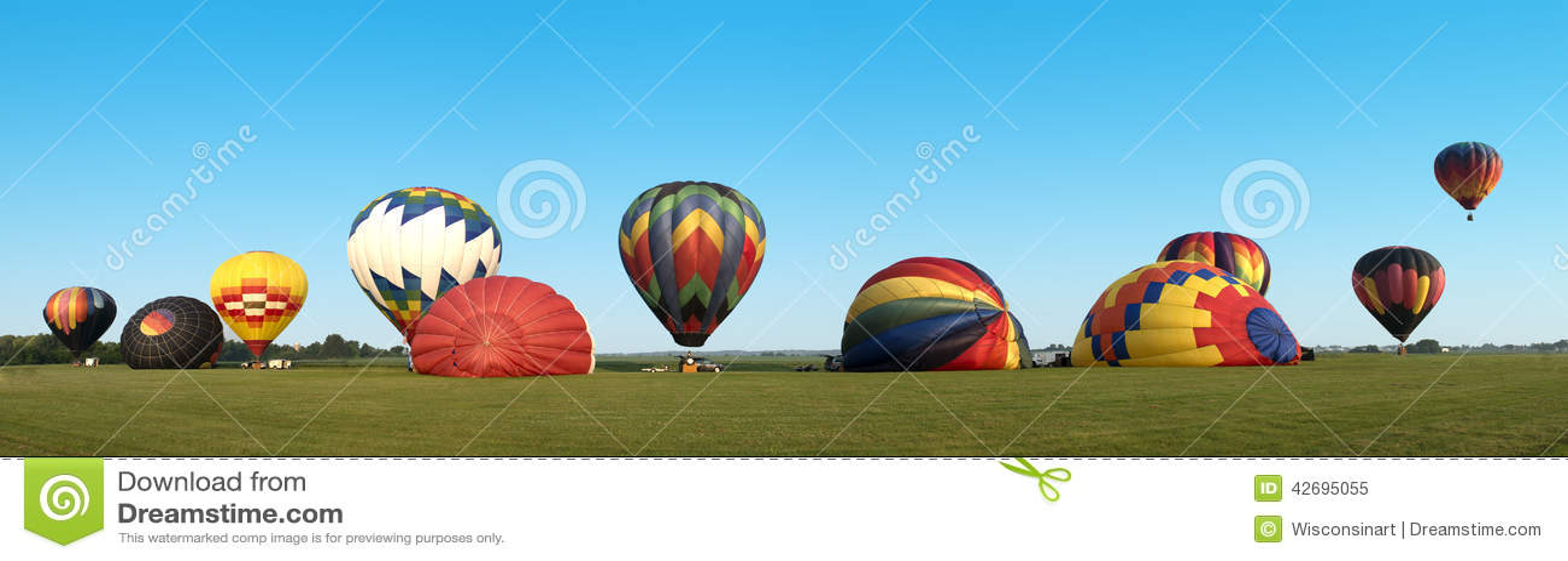 Bandeira panorâmico de Panoama do balão de ar quente