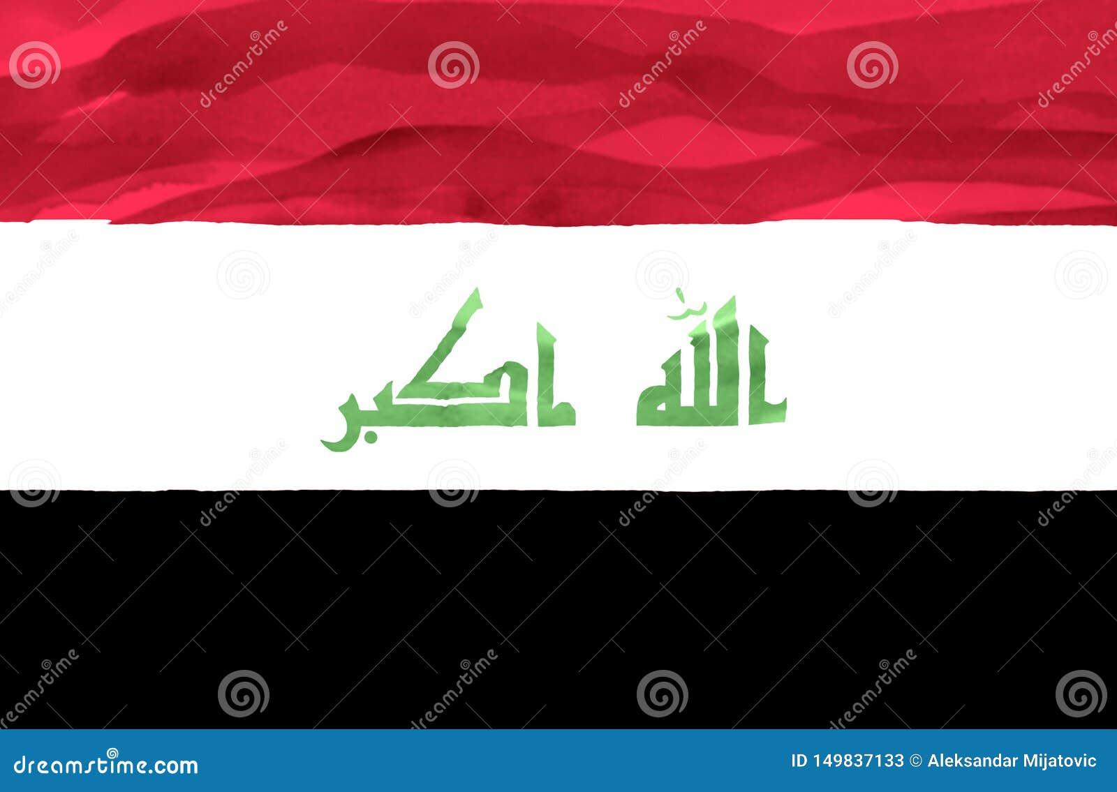 Bandeira pintada de Iraque