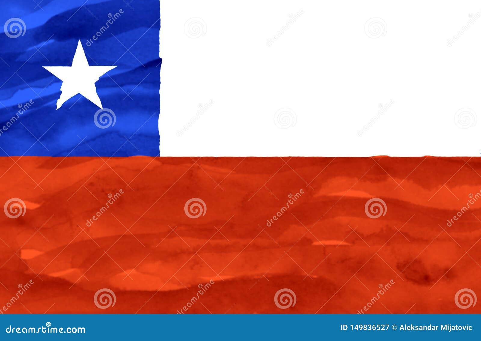 Bandeira pintada do Chile