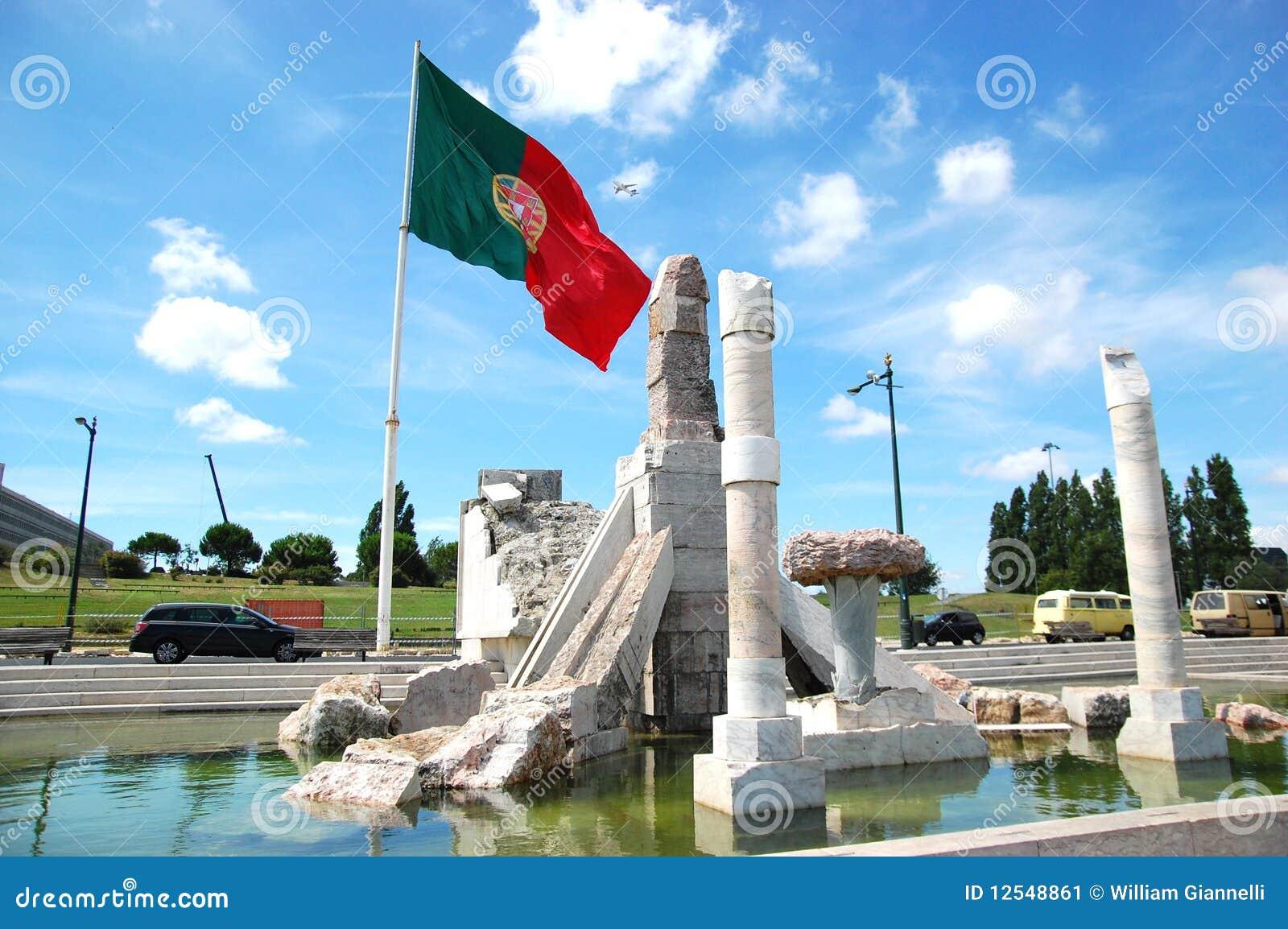 Bandeira portuguesa no parque de Eduardo VII