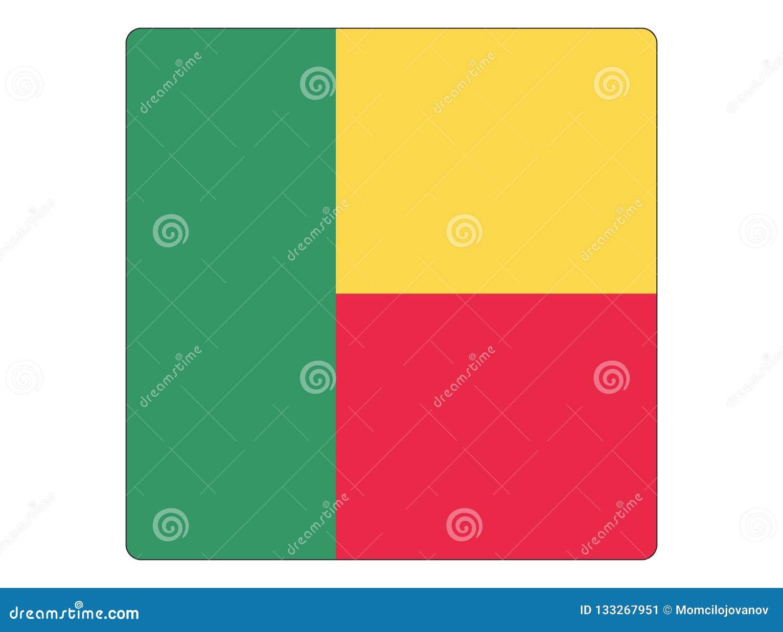 Bandeira quadrada de Benin