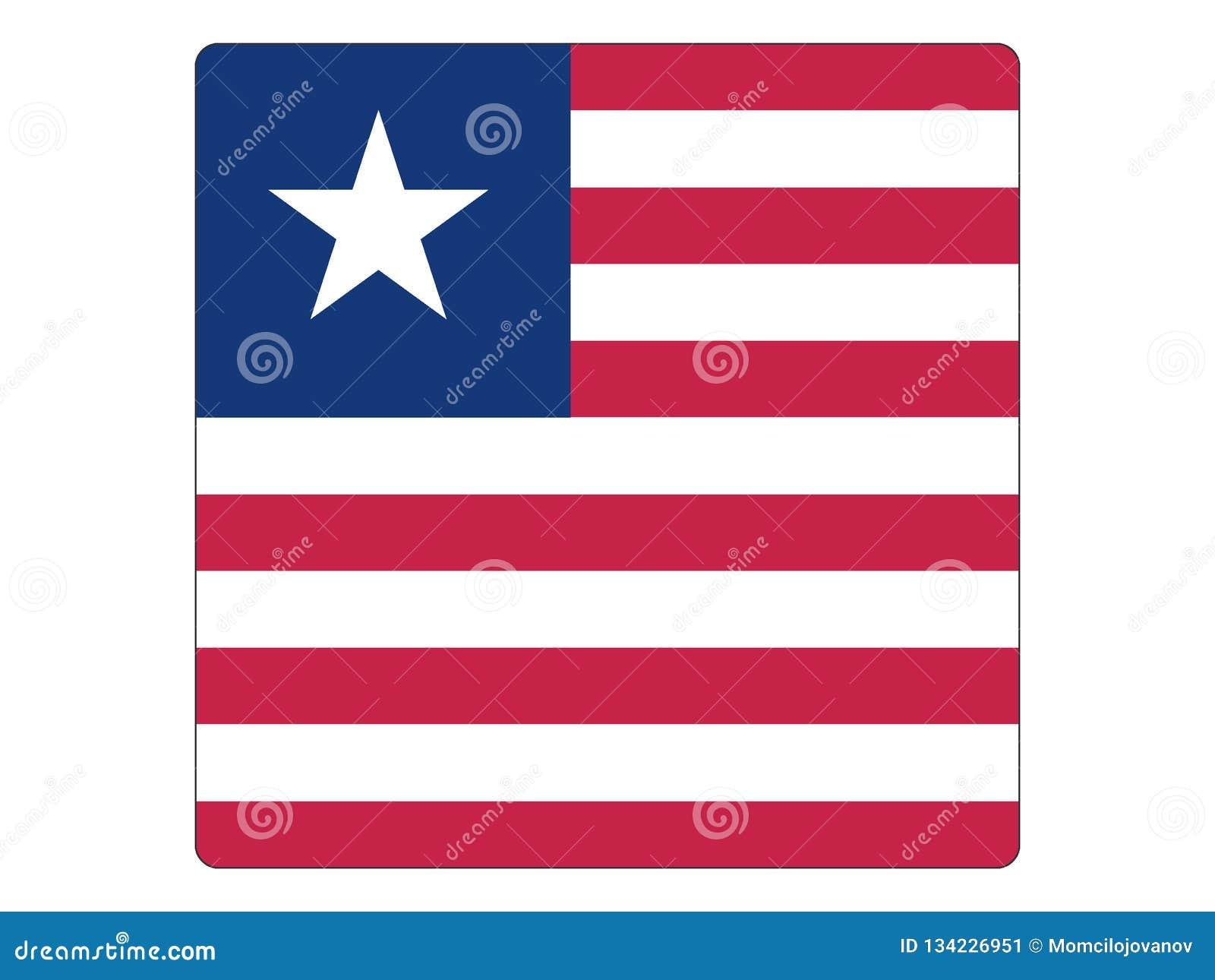 Bandeira quadrada de Libéria