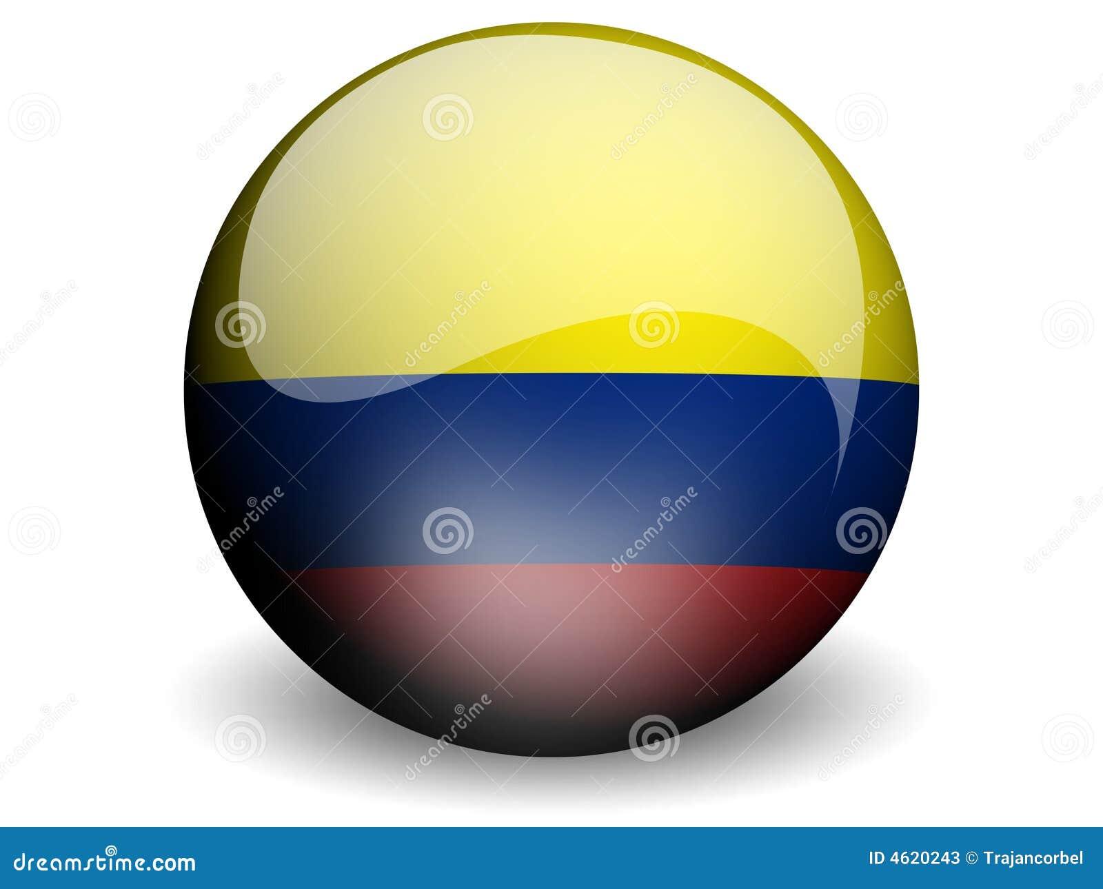 Bandeira redonda de Colômbia