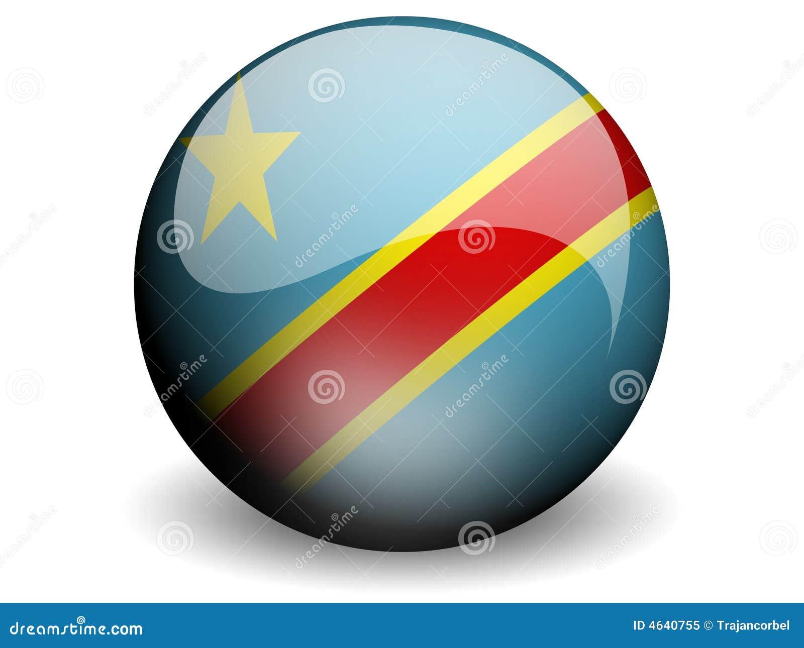 Bandeira redonda de Congo-Kinshasa
