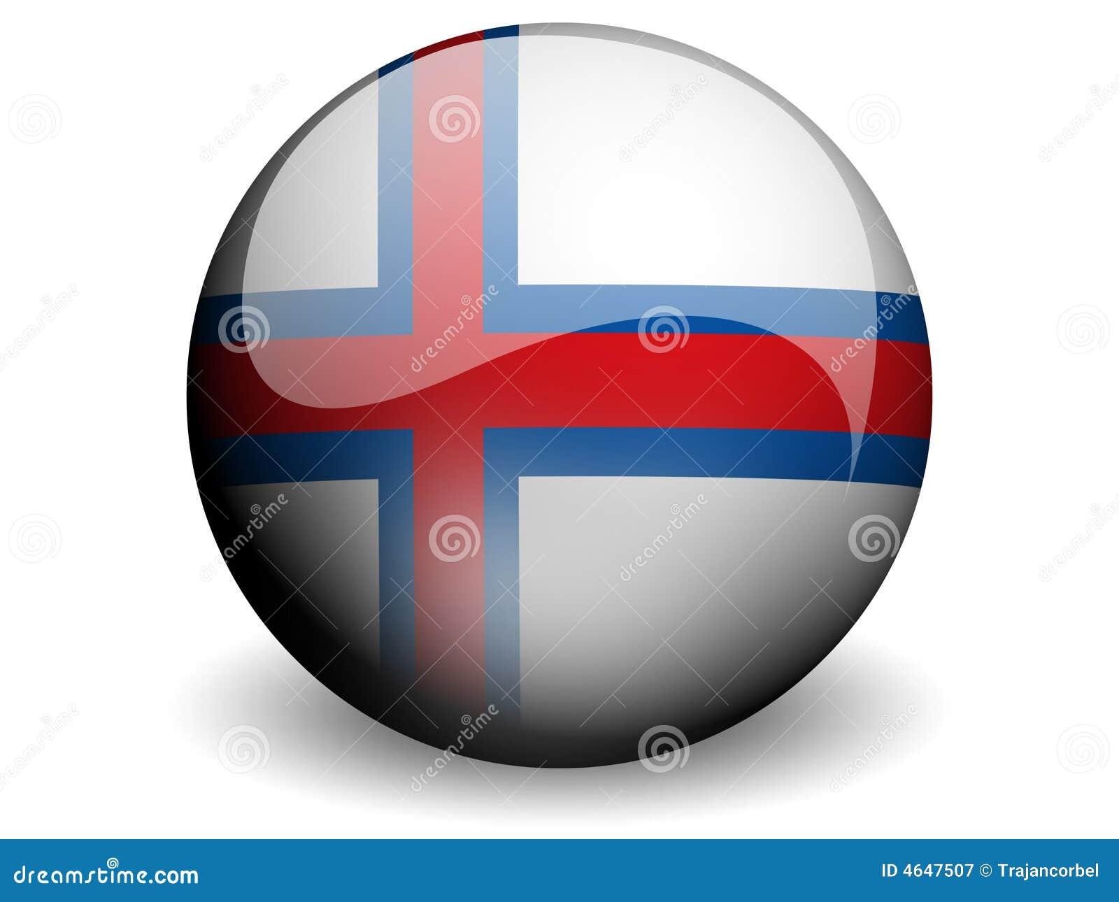Bandeira redonda de Faroé