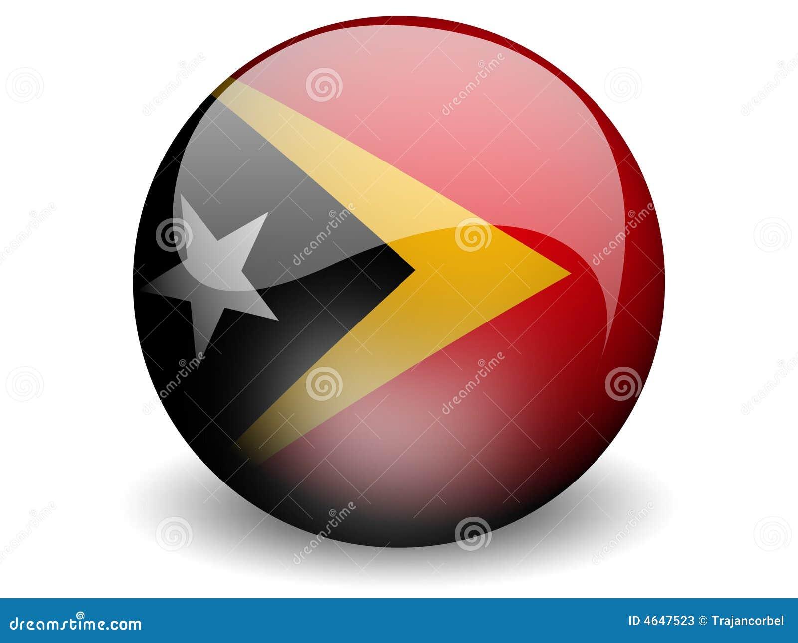 Bandeira redonda de Timor Oriental