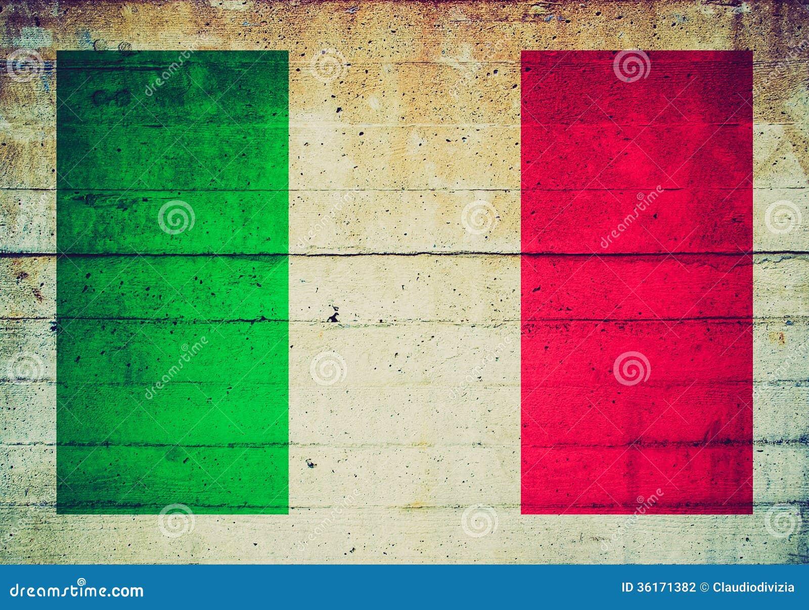 Bandeira retro do italiano do olhar