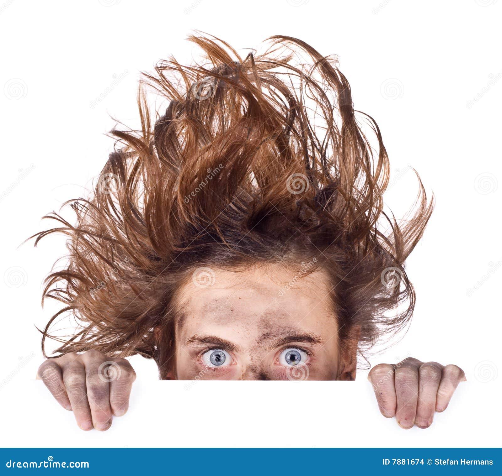 Bandeira ruim do dia do cabelo