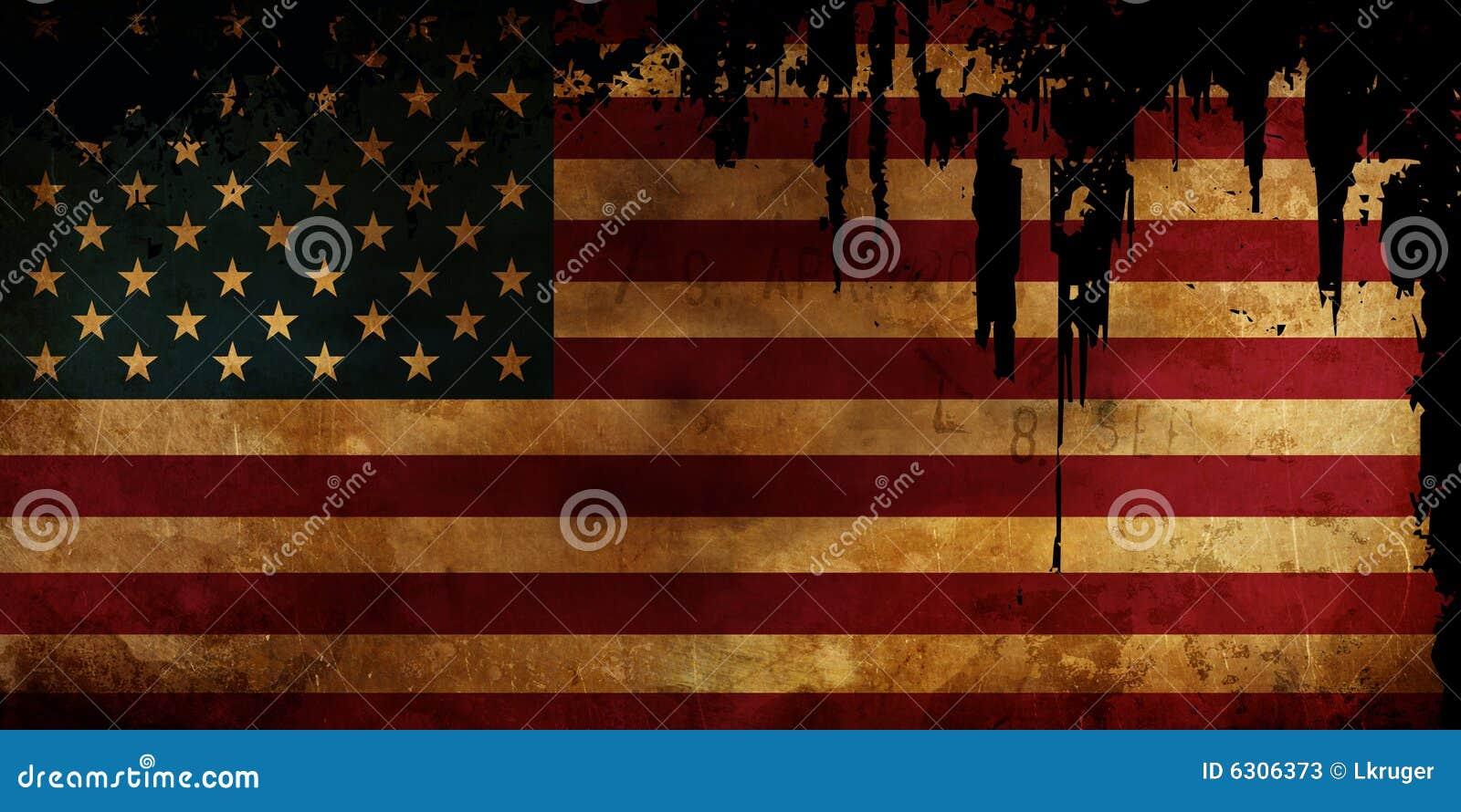 Bandeira velha dos EUA disstressed