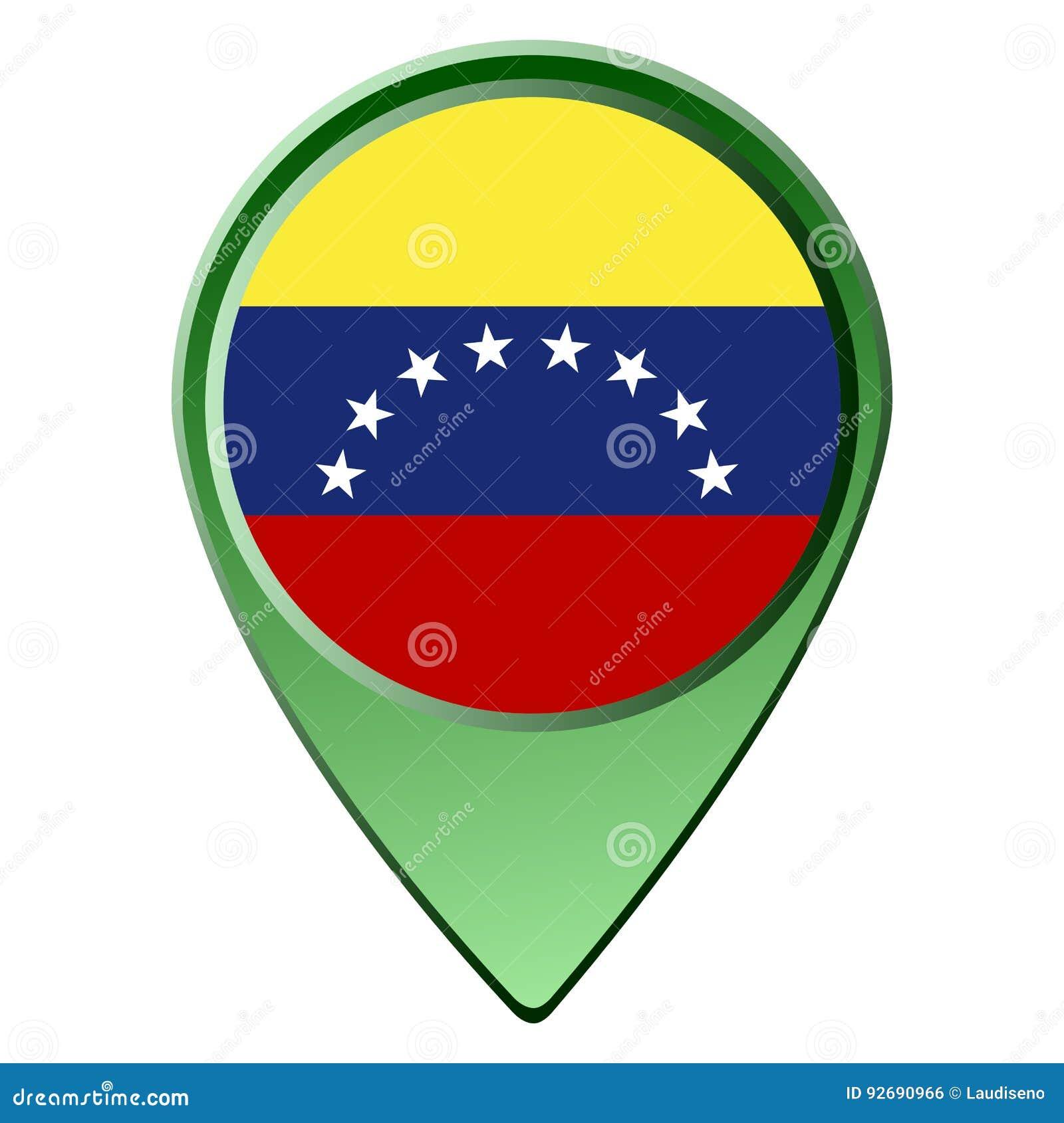 Bandeira venezuelana isolada