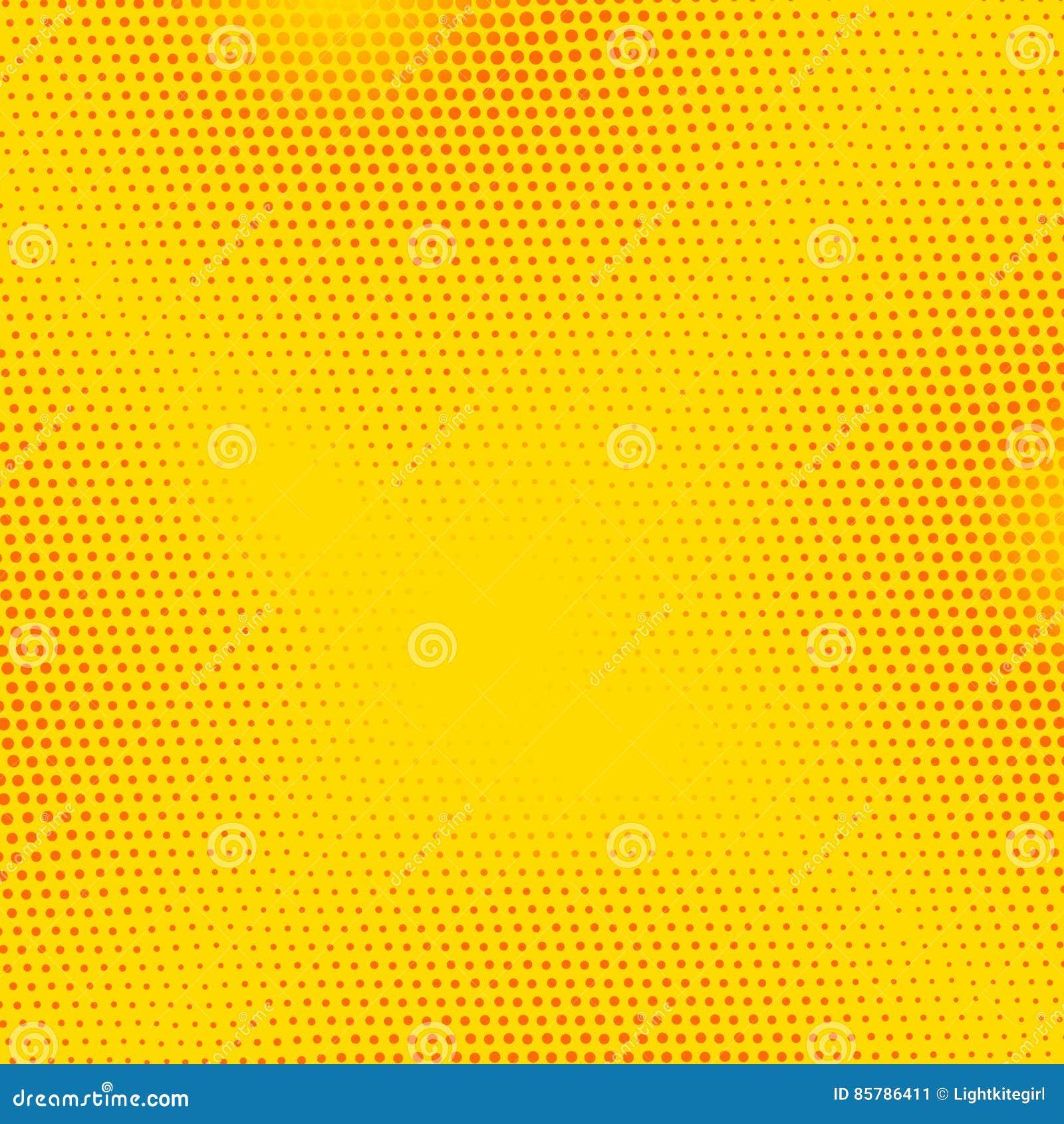 Bandeira vermelha, amarela do pop art do vetor com pontos de intervalo mínimo Ilustração retro do fundo da banda desenhada do vin