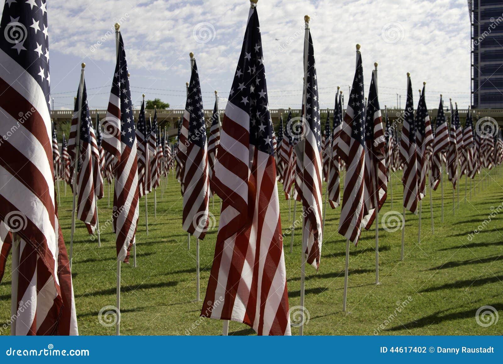 911 bandeiras americanas do campo cura memorável