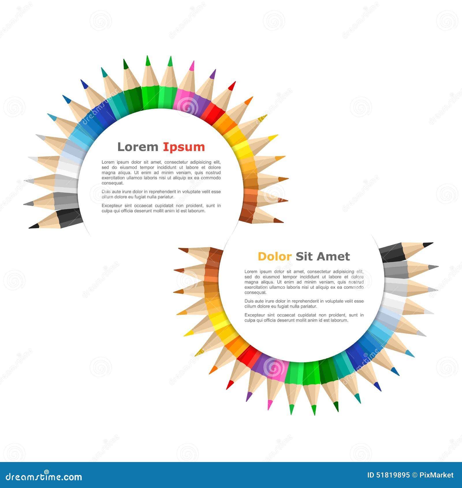 Bandeiras com lápis coloridos