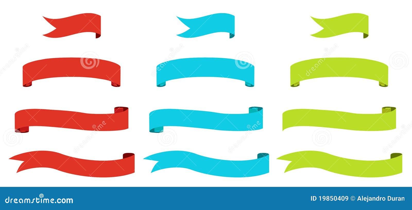 Bandeiras da fita