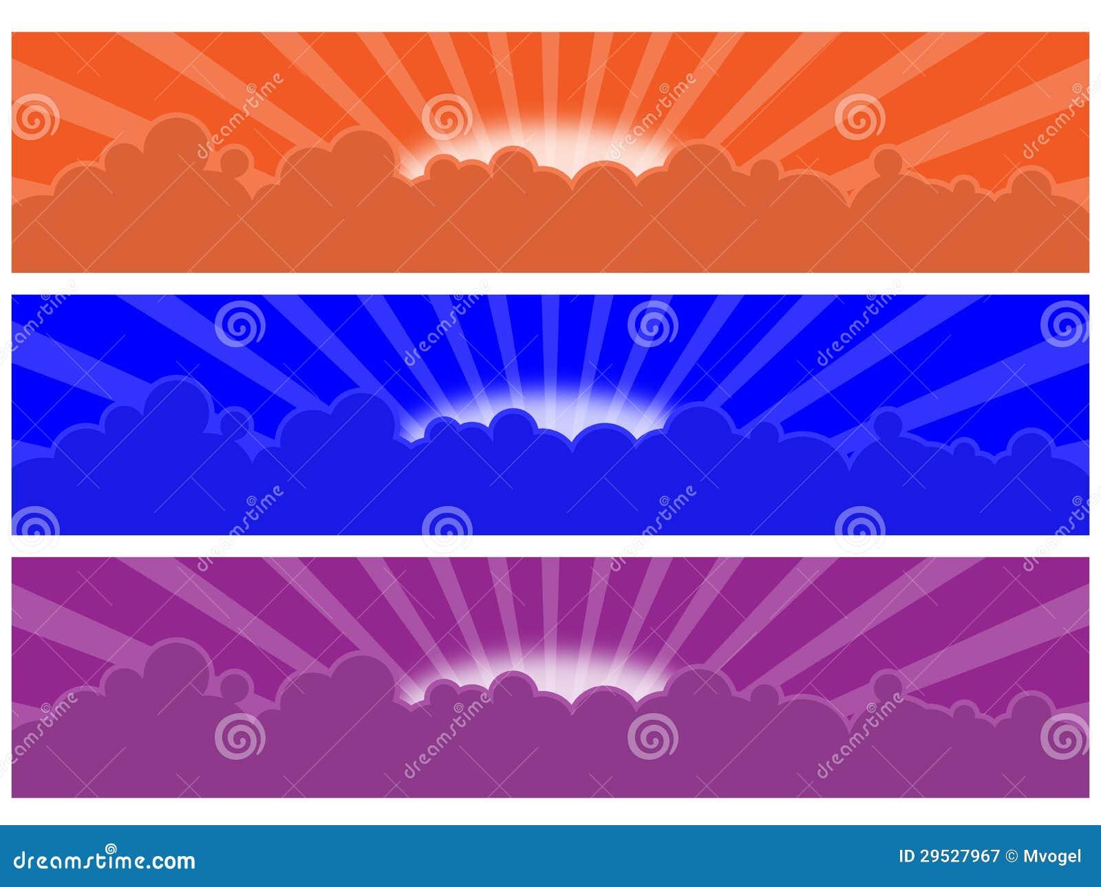 Bandeiras da nuvem e da raia