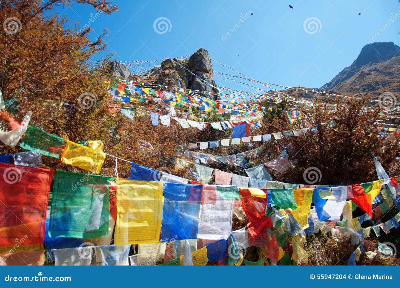 Bandeiras da oração de Himalaya