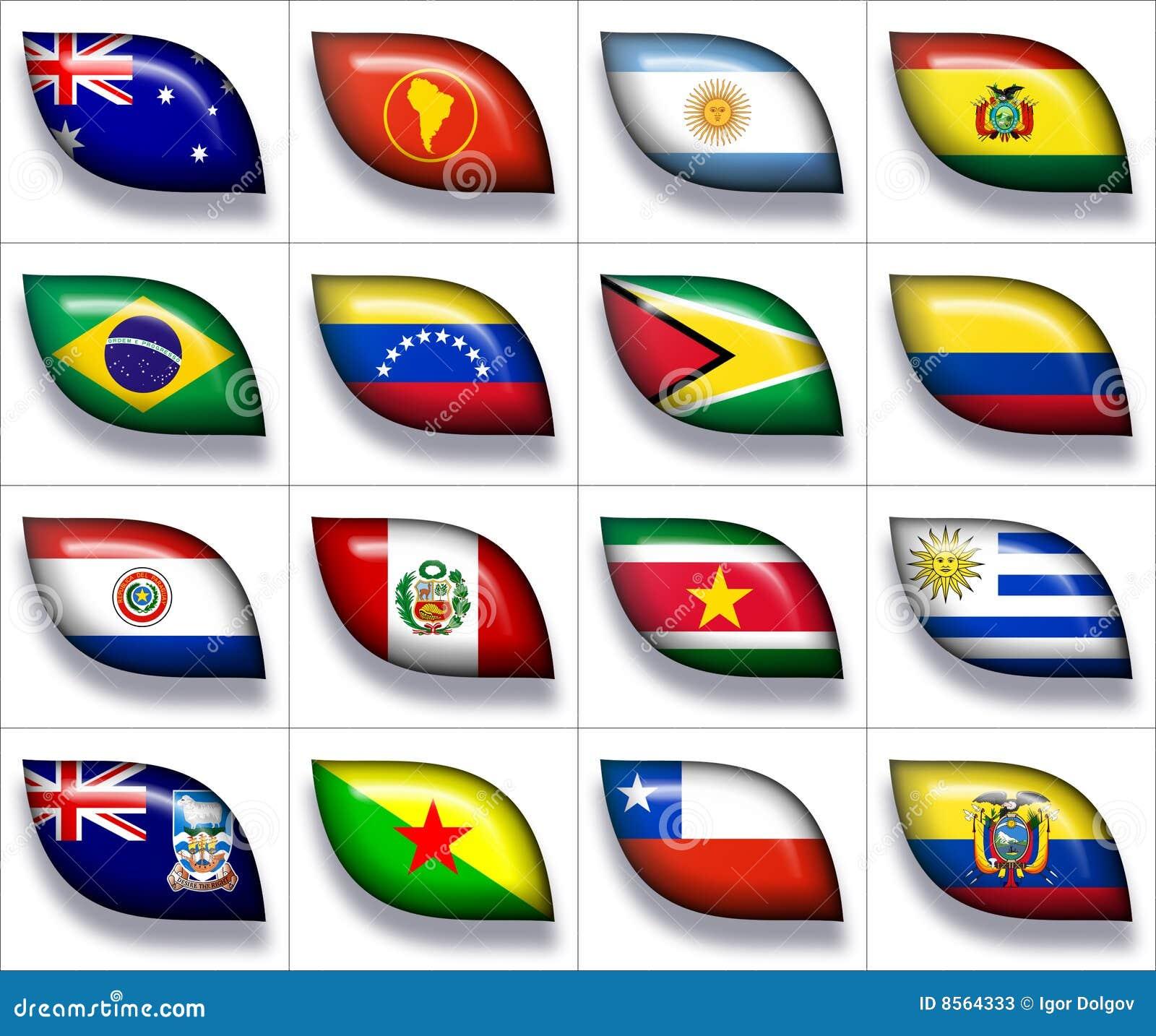 Bandeiras de Austrália & de Ámérica do Sul 2