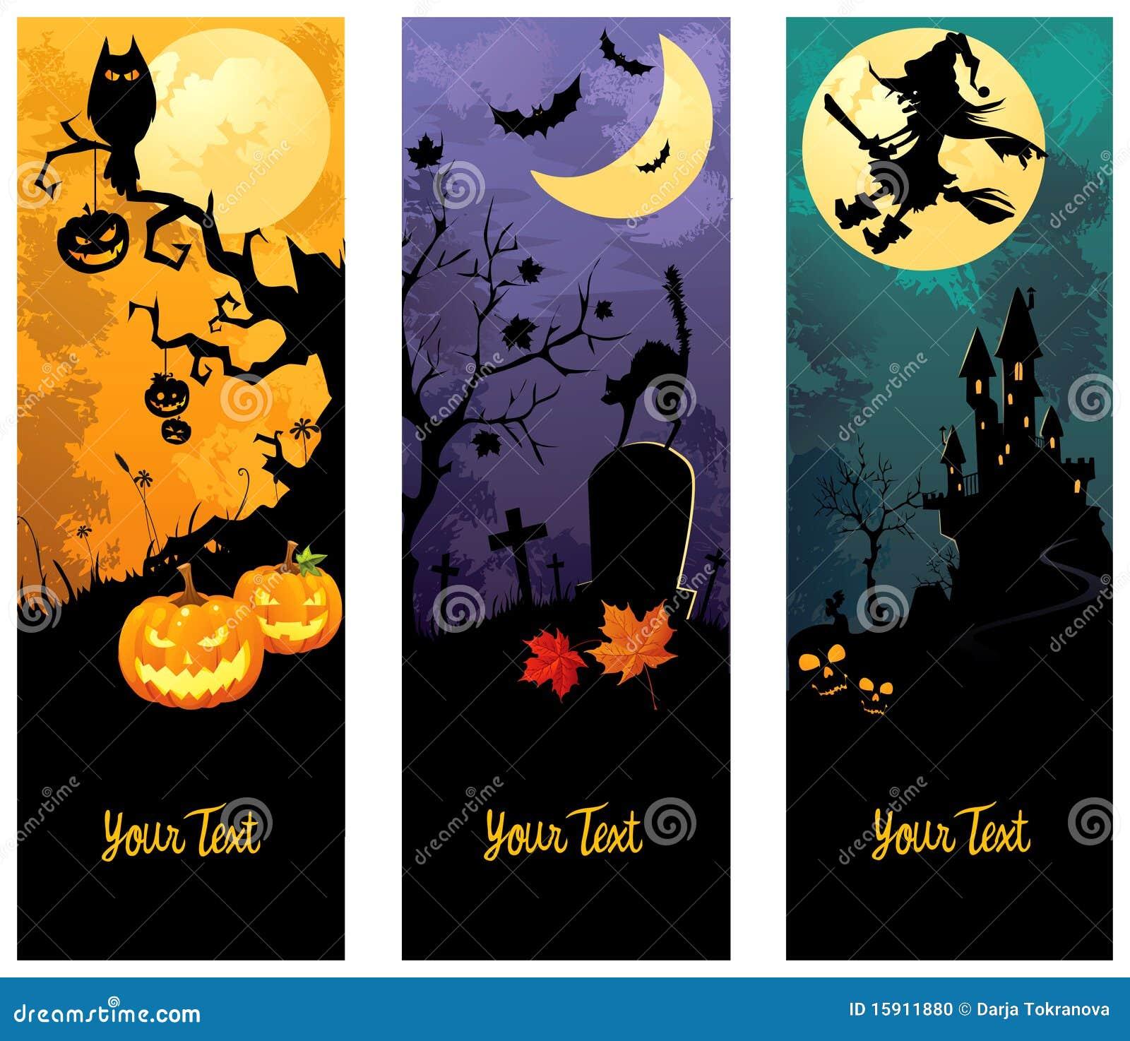 Bandeiras de Halloween ajustadas