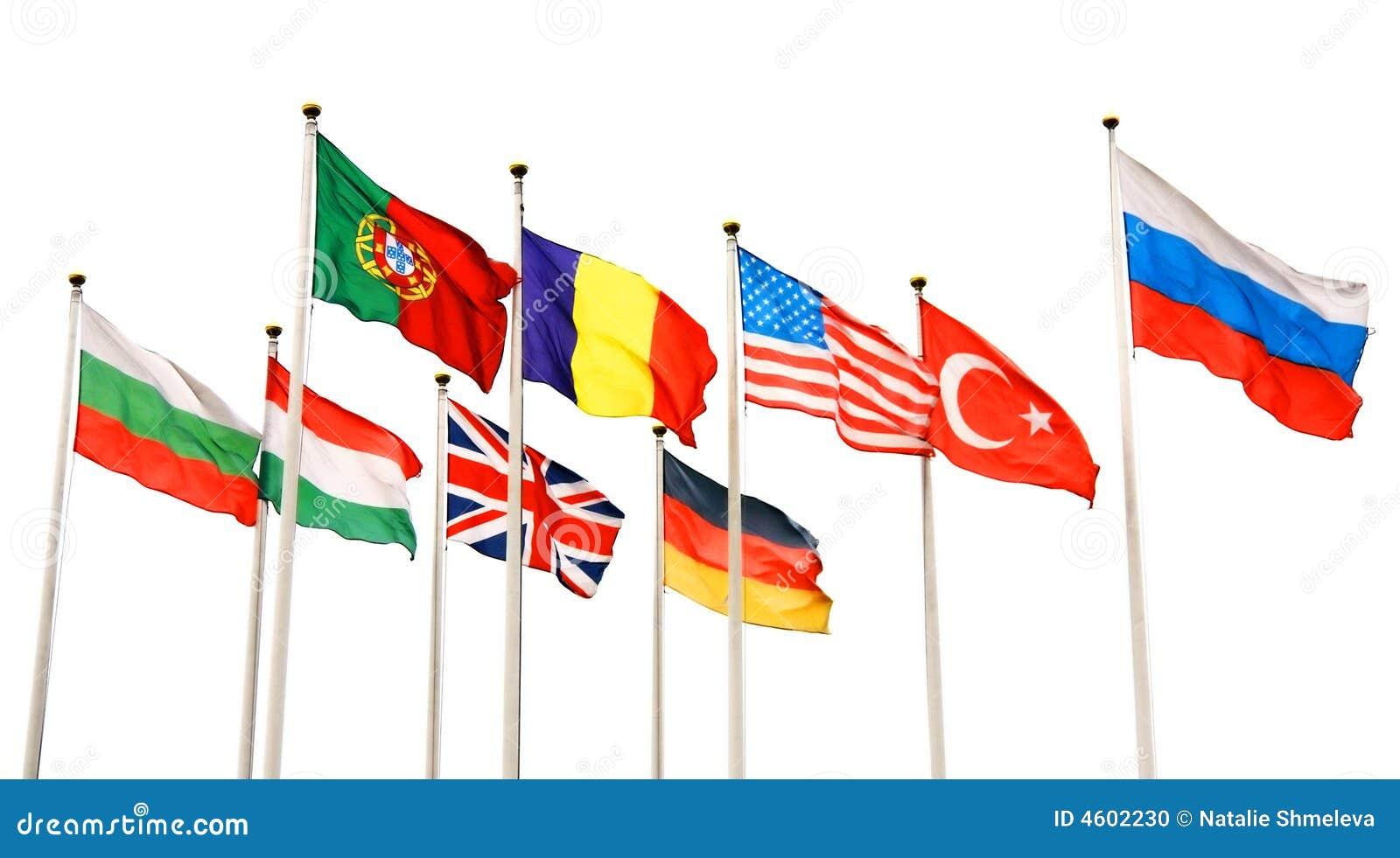 Bandeiras de países diferentes