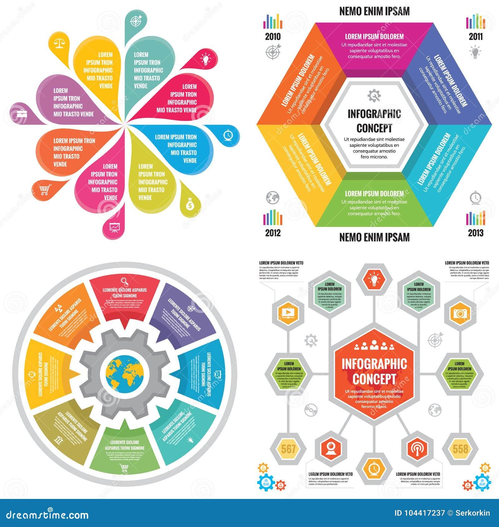 Bandeiras do conceito do negócio do molde dos elementos de Infographic para a apresentação, o folheto, o Web site e o outro proje