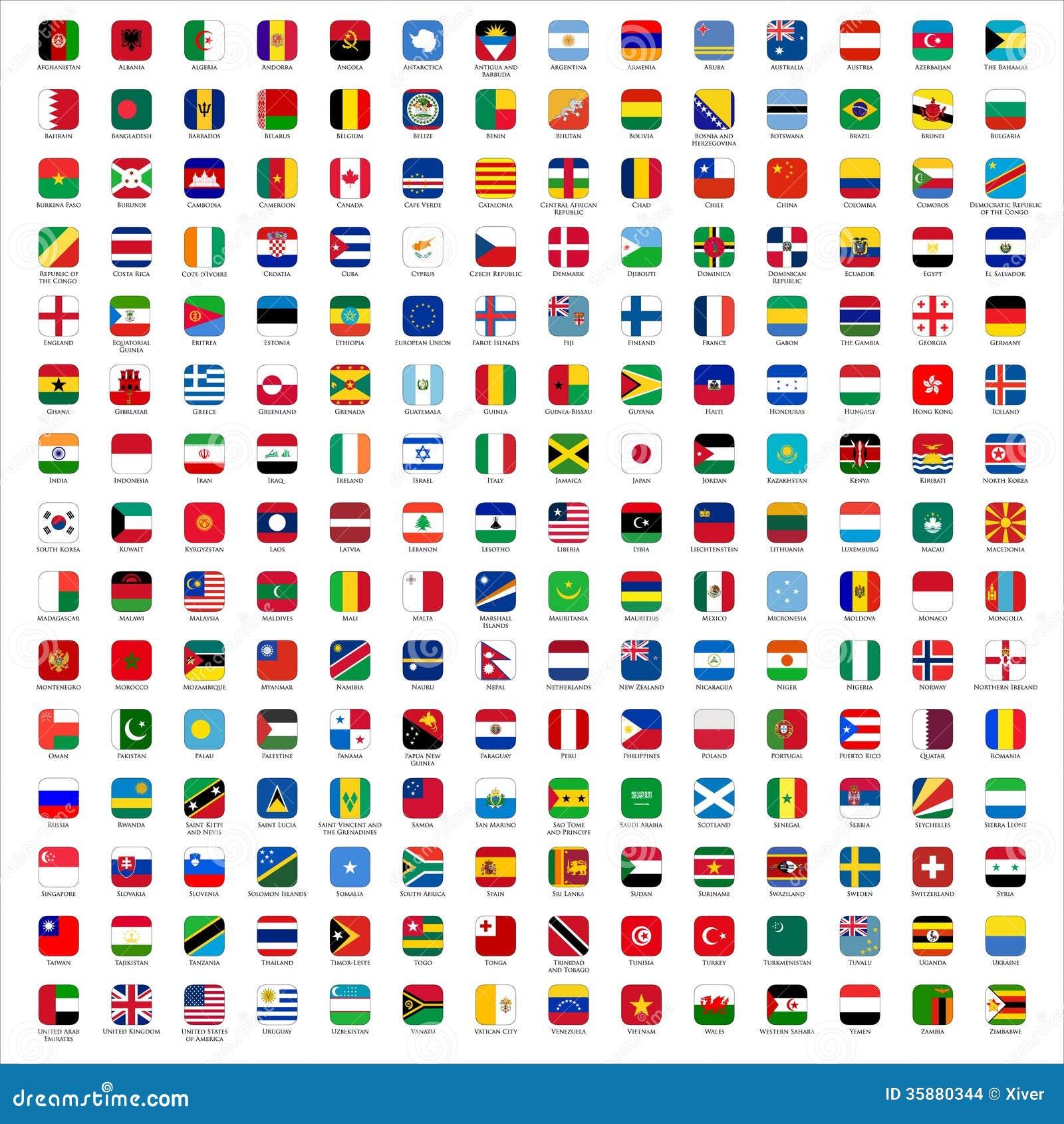 Bandeiras do mundo - ícones