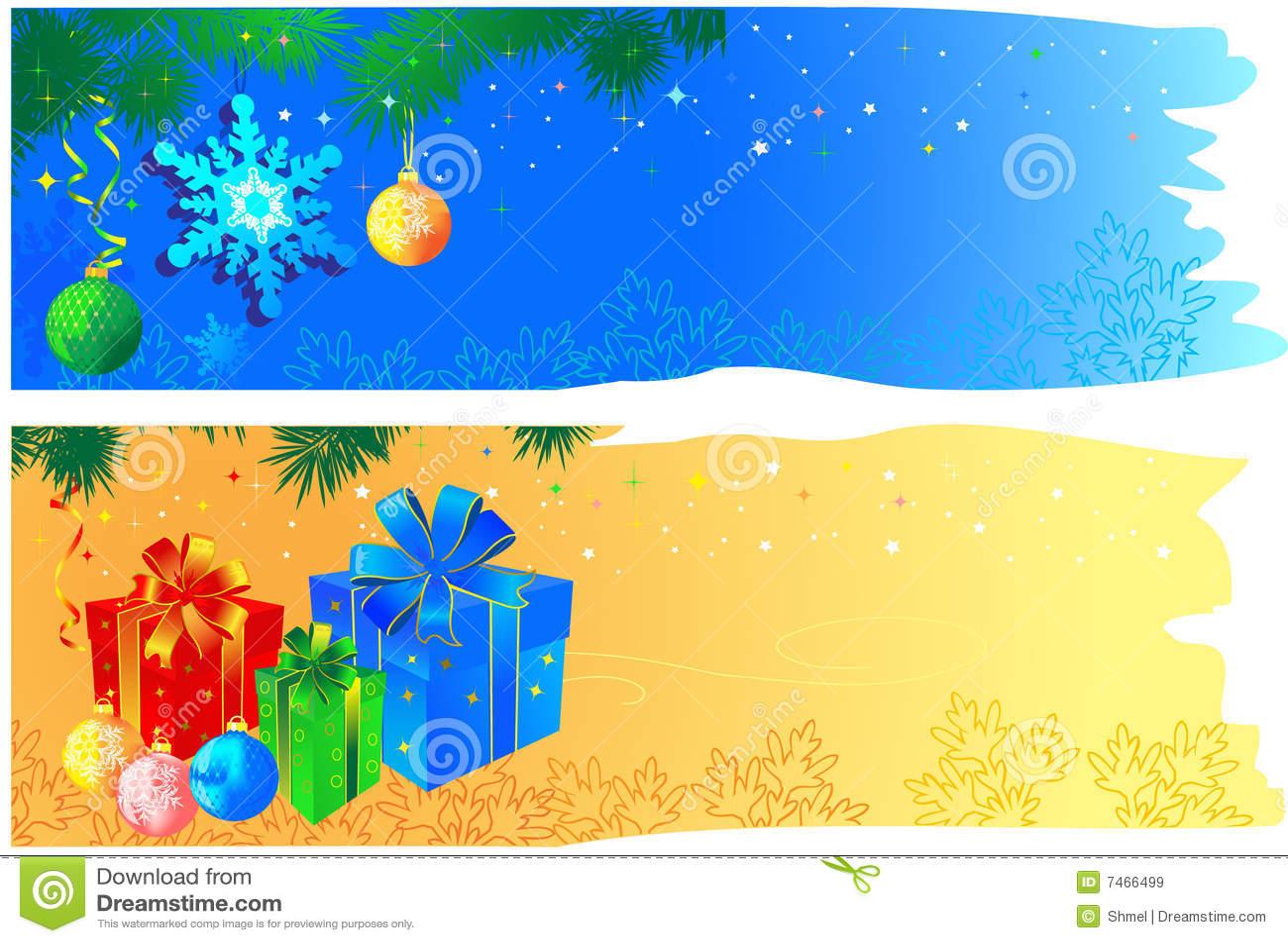 Bandeiras do Natal com espaço