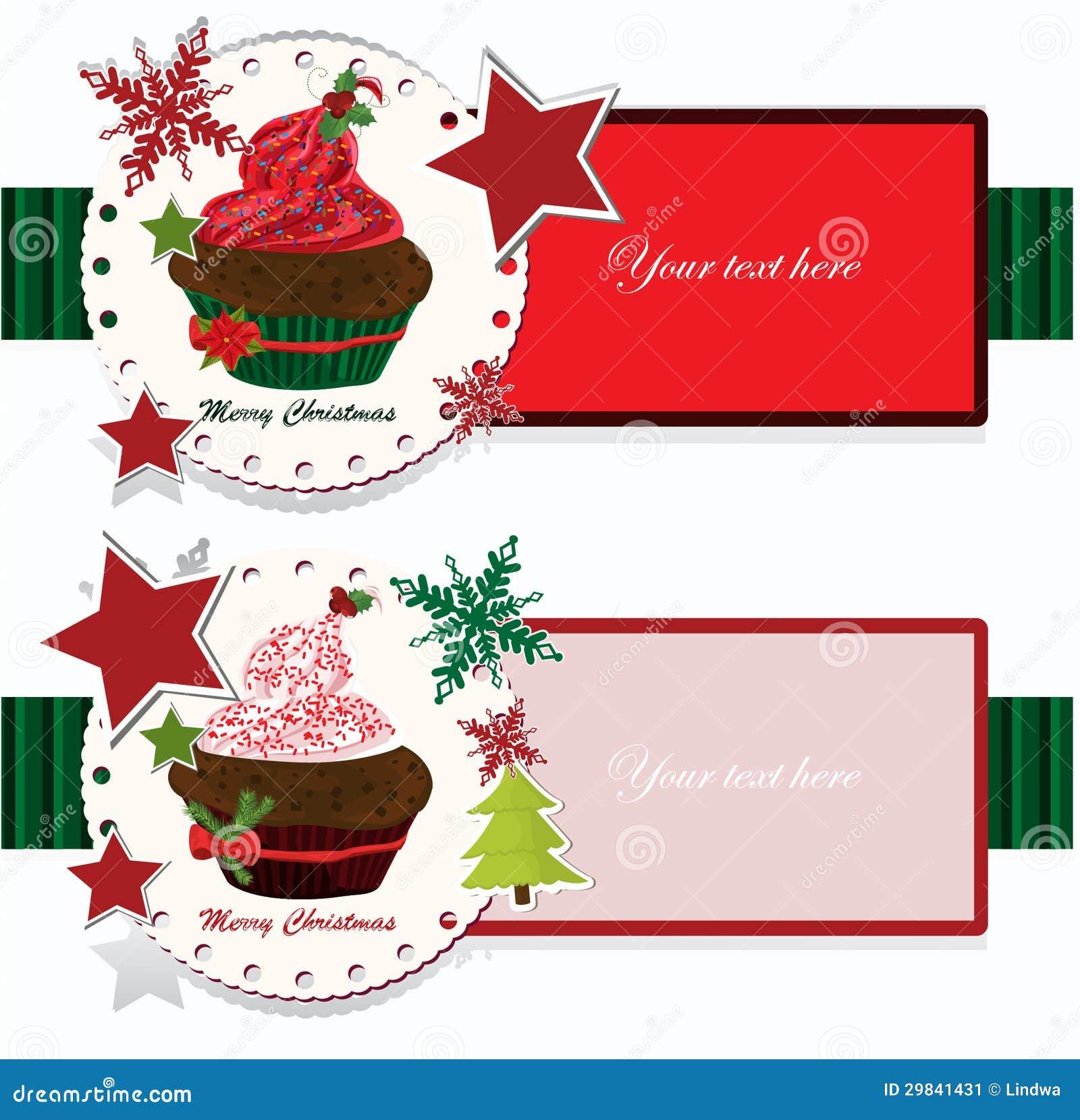 Bandeiras do Natal com queque