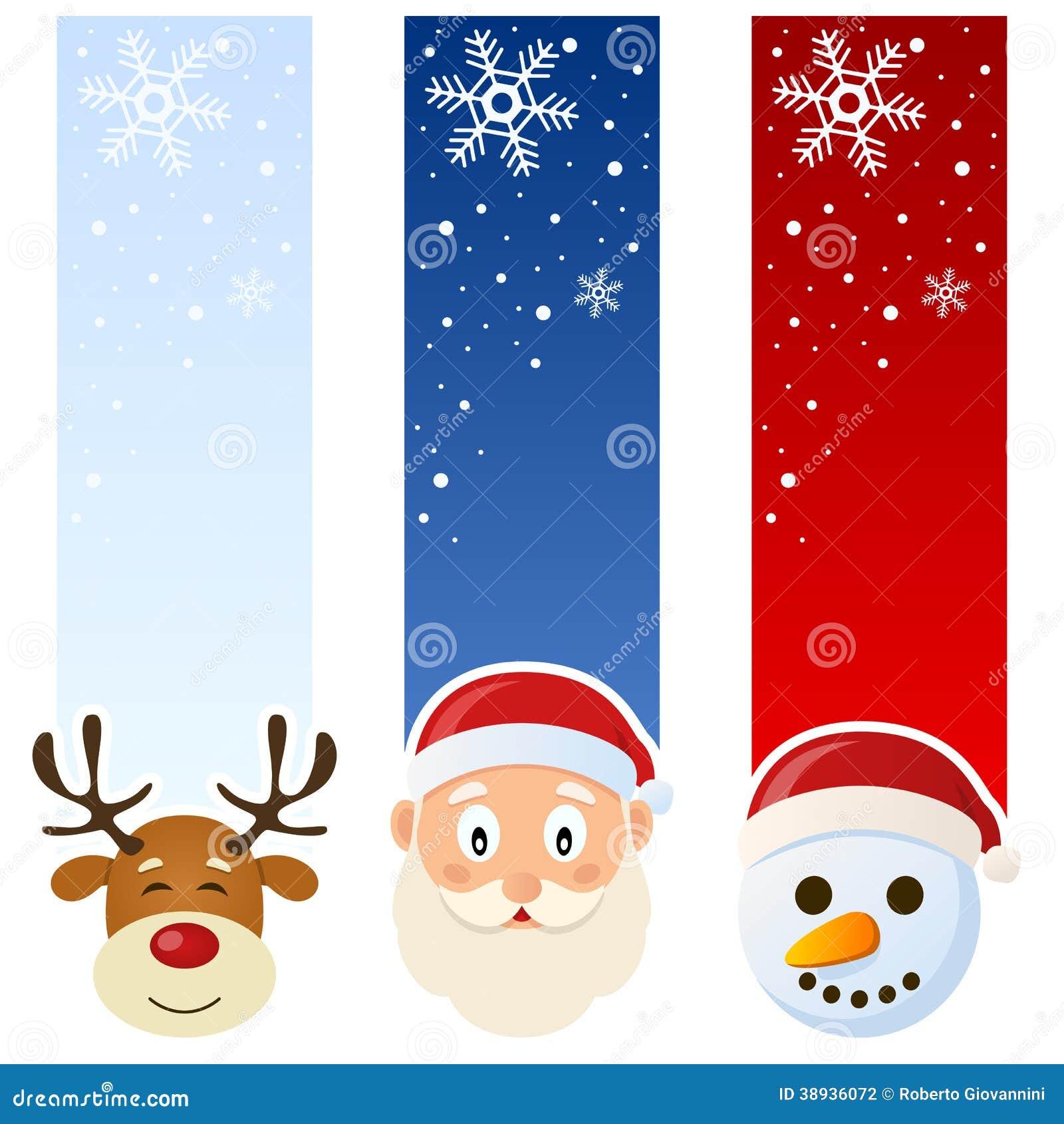 Bandeiras do vertical do inverno ou do Natal