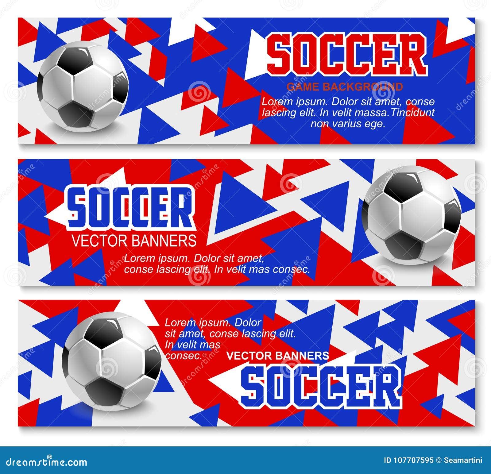d6b54d684 As bandeiras do fundo do competiam do jogo do esporte do campeonato ou do  futebol do futebol projetam o molde Vector a bola vermelha