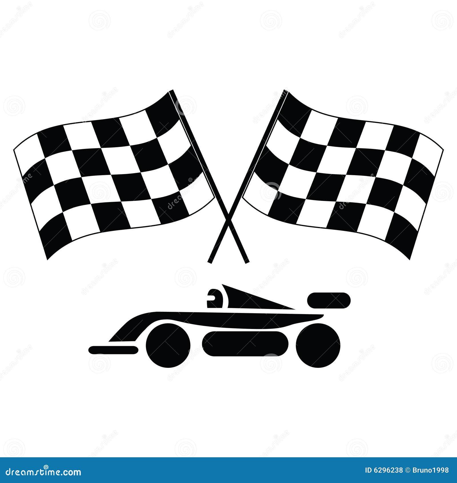 Bandeiras e carro Checkered