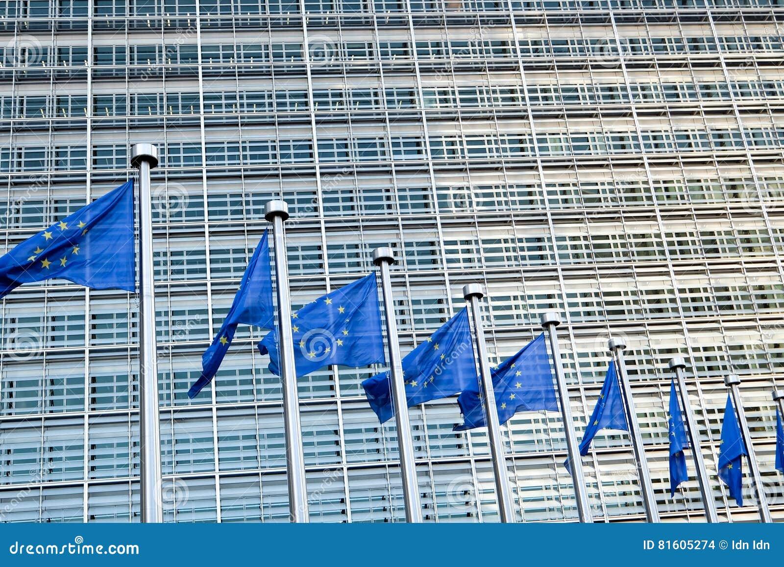 Bandeiras européias em Bruxelas