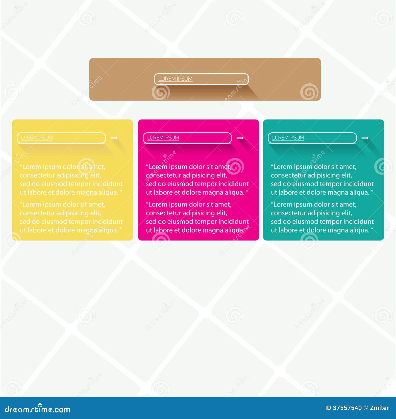Bandeiras lisas na moda modernas do projeto de UI