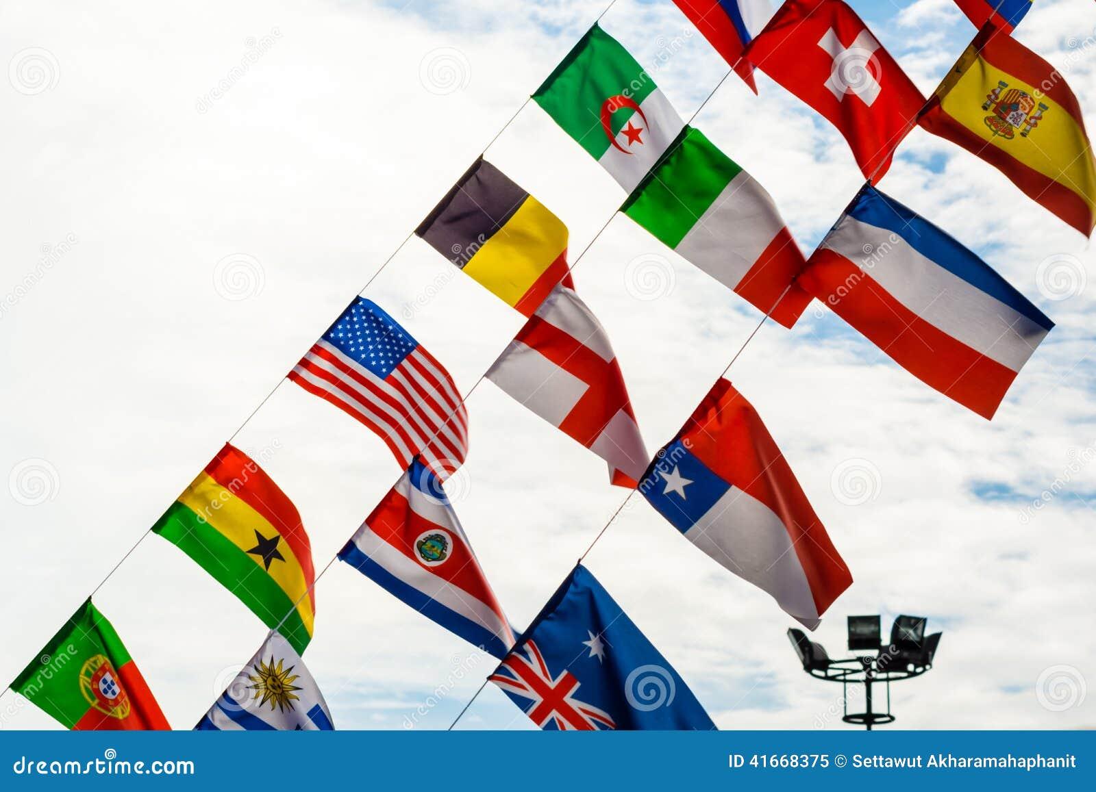 Bandeiras no centro do conference&convention de shenzhen