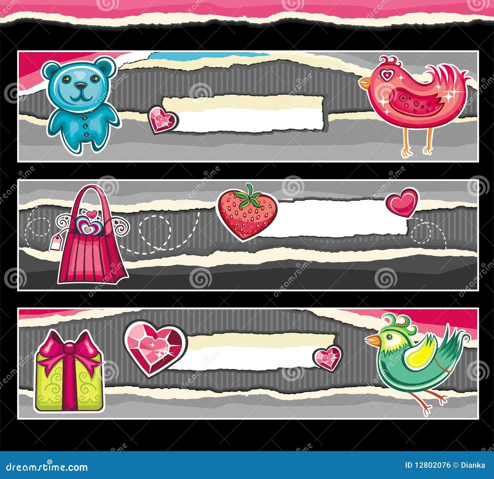 Bandeiras para o dia do Valentim.