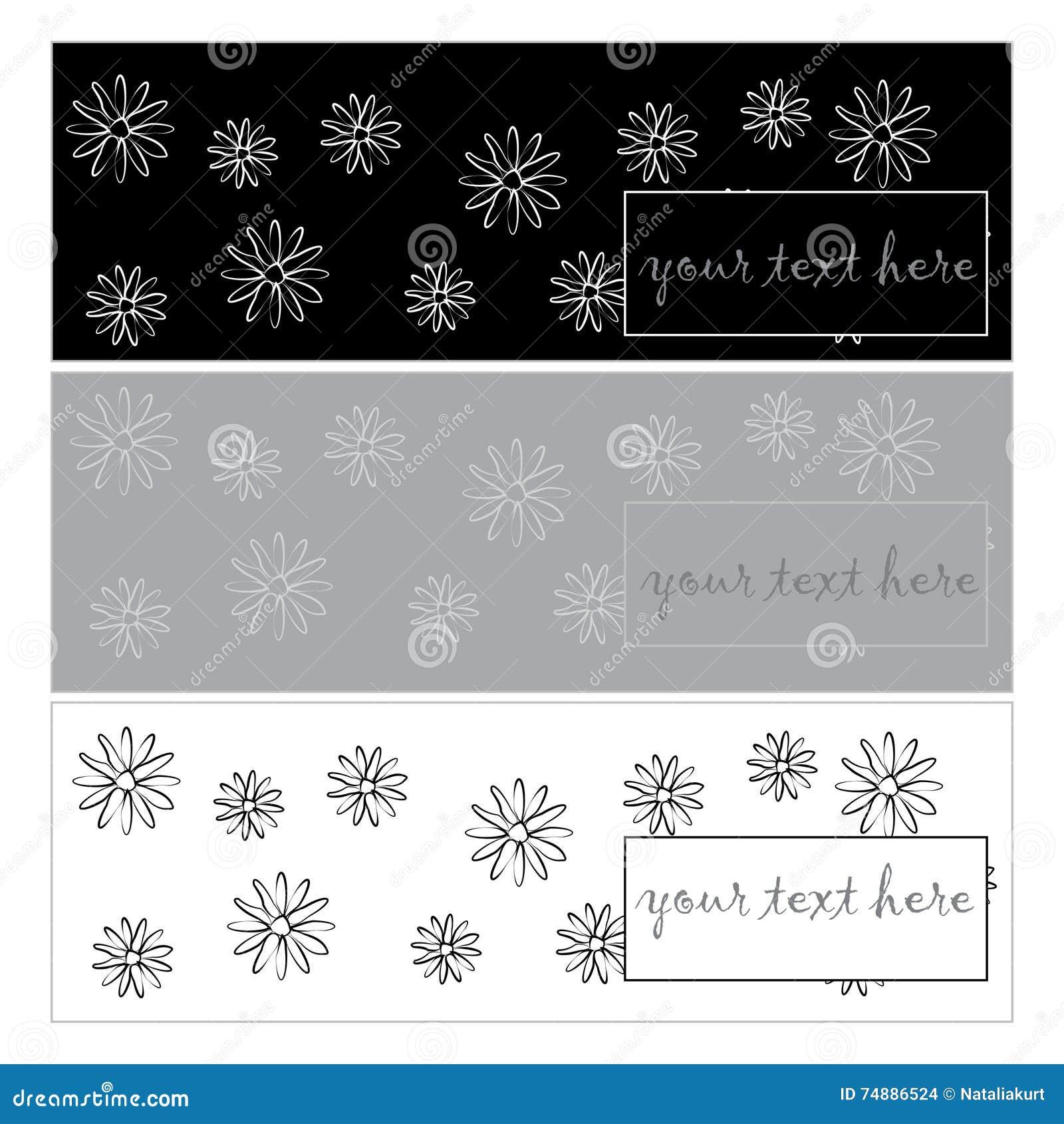 Bandeiras para seu projeto com flores simples