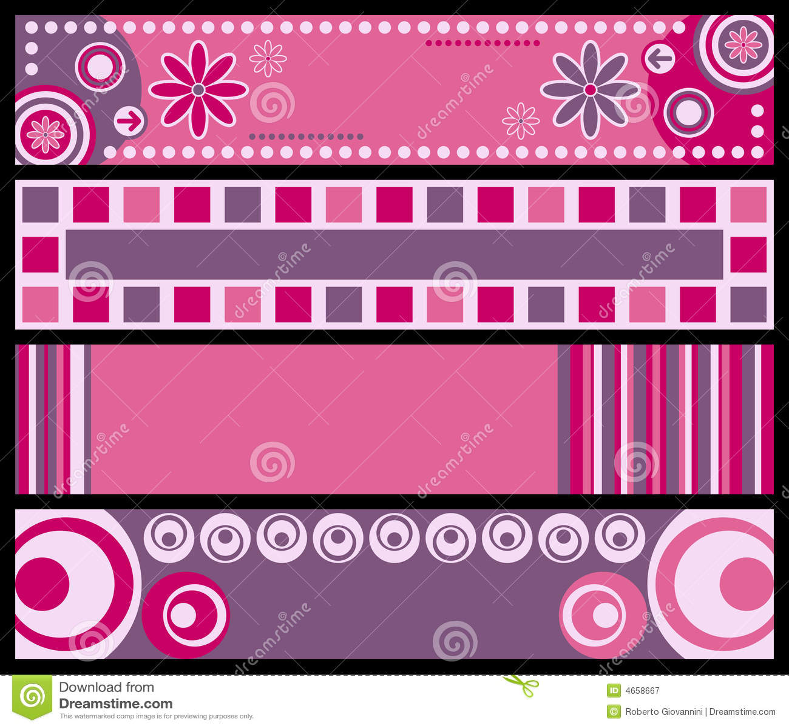 Bandeiras retros [cor-de-rosa]