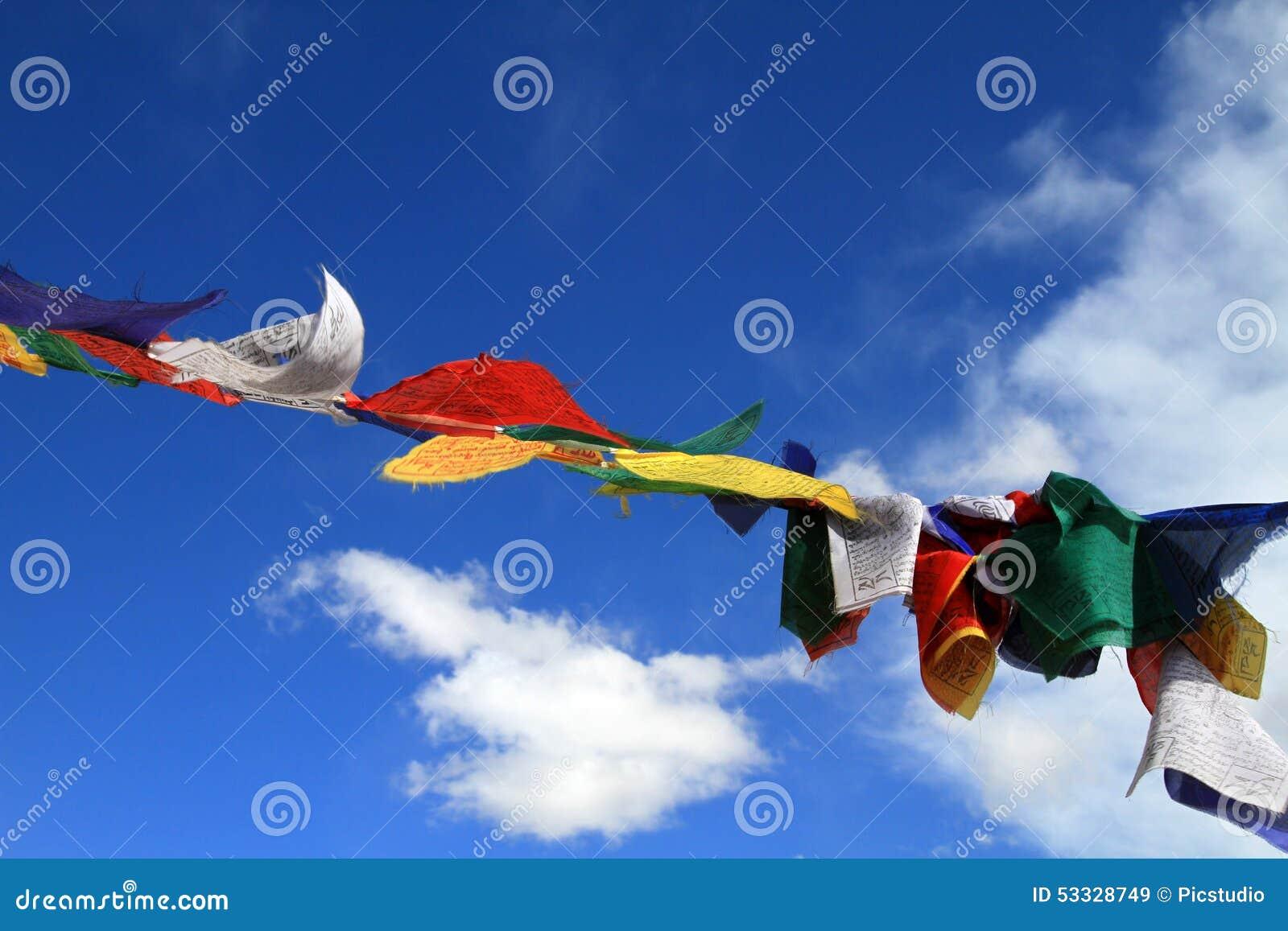 Bandeiras sagrados de Budhist