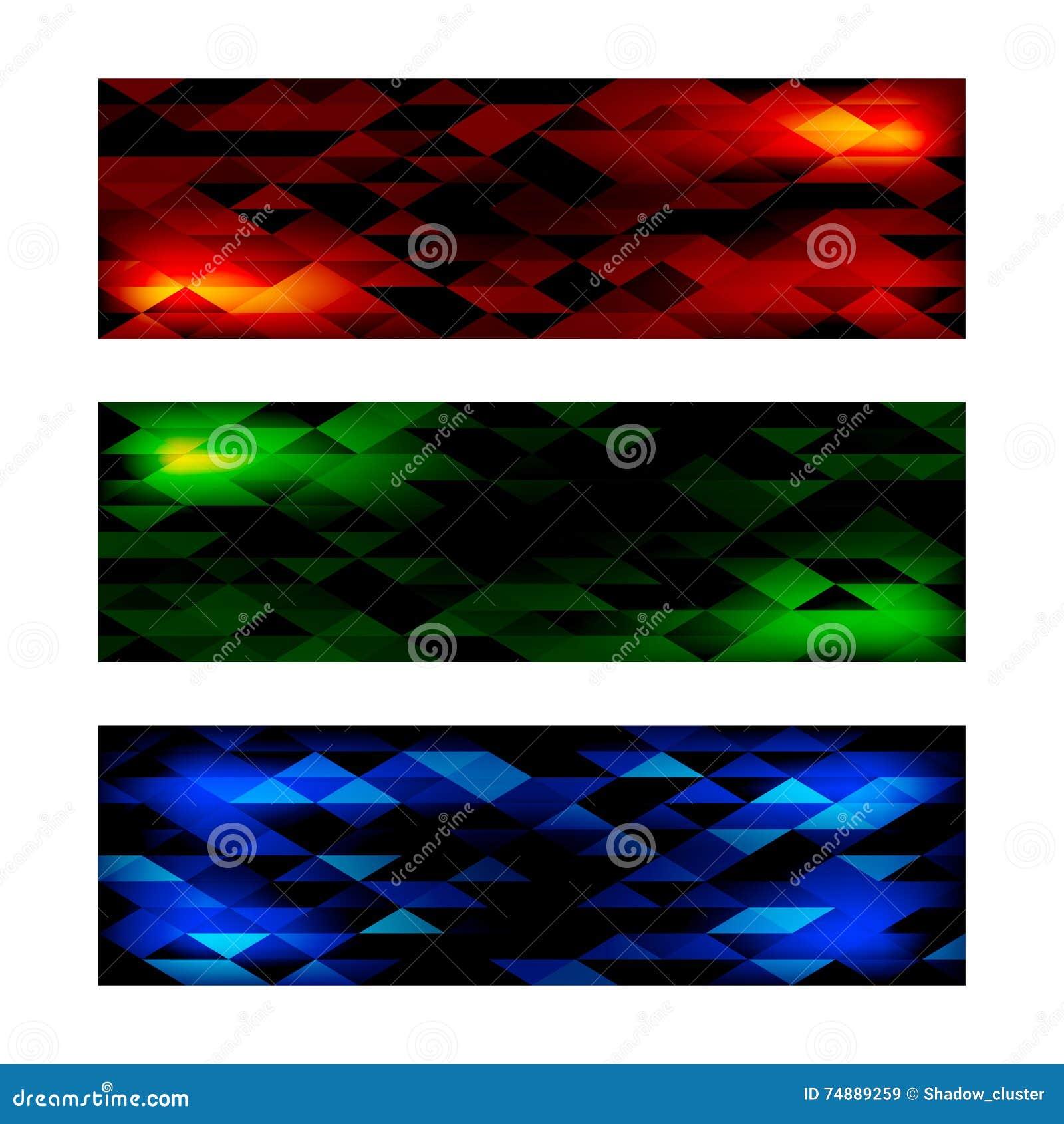 Bandeiras triangulares do mosaico ajustadas