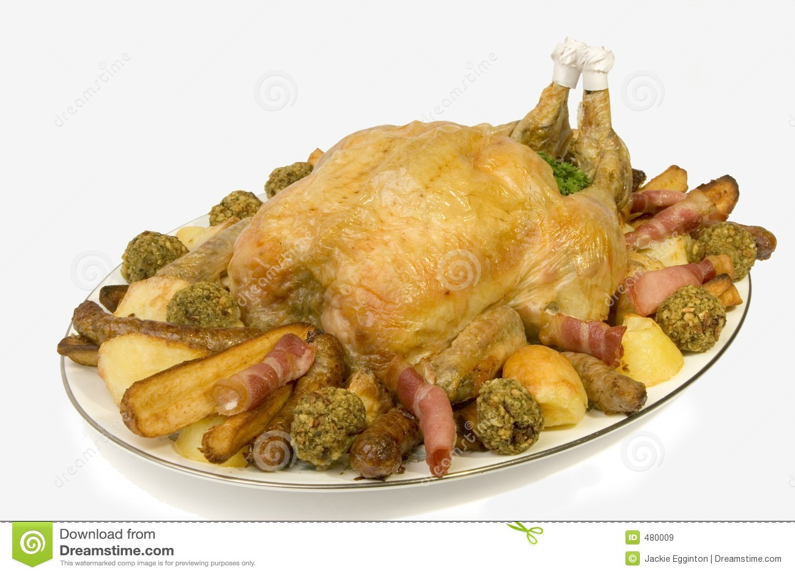 Bandeja da galinha do assado