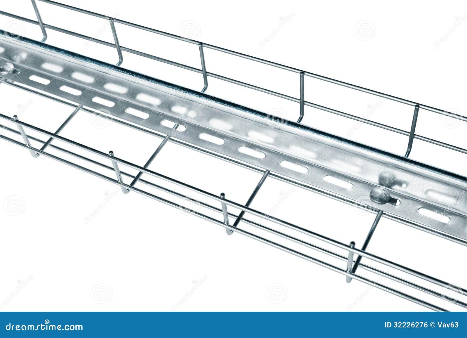 Download Bandeja de cabo do metal foto de stock. Imagem de posto - 32226276